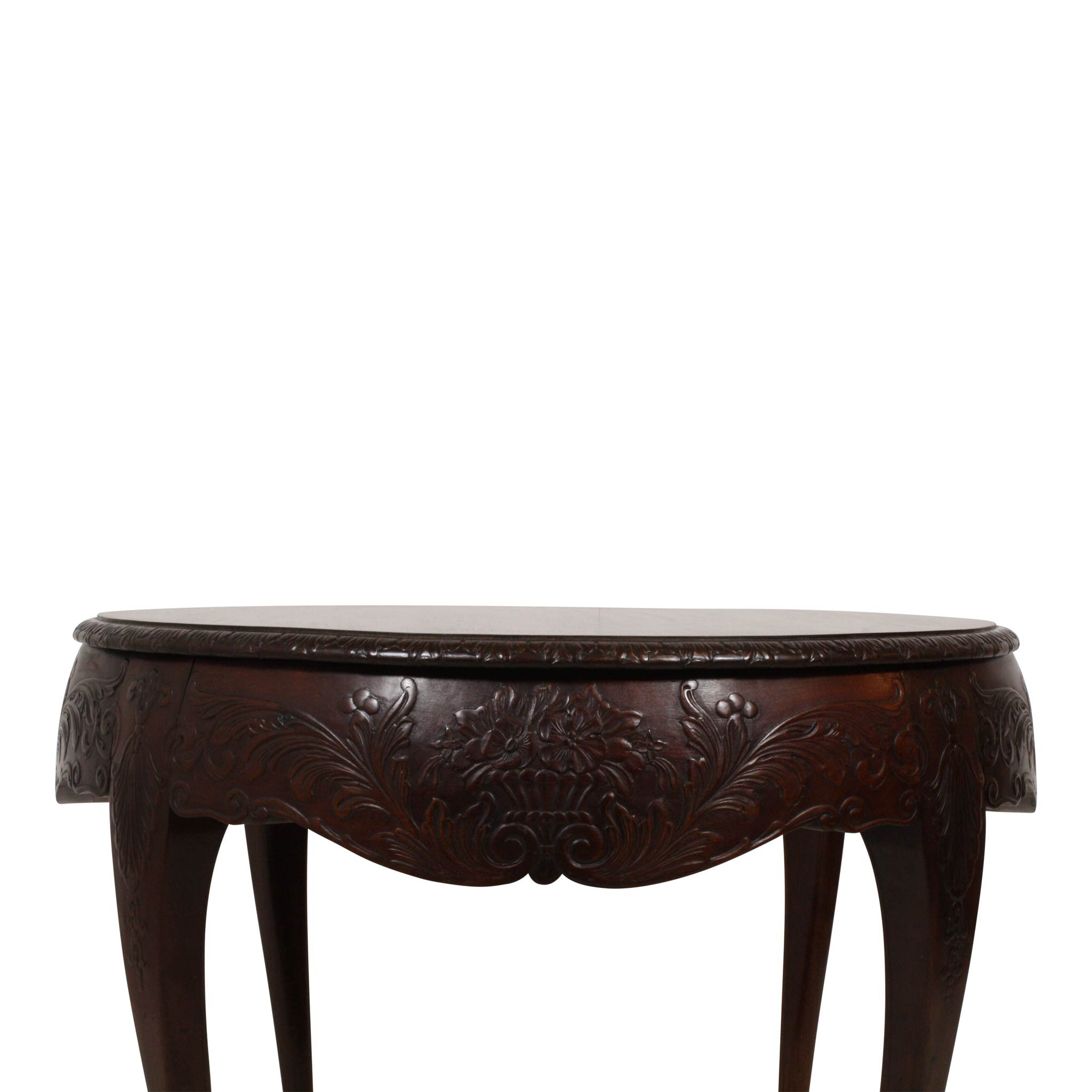 French Louis XV Ball and Claw Foot Side Table Ski Country