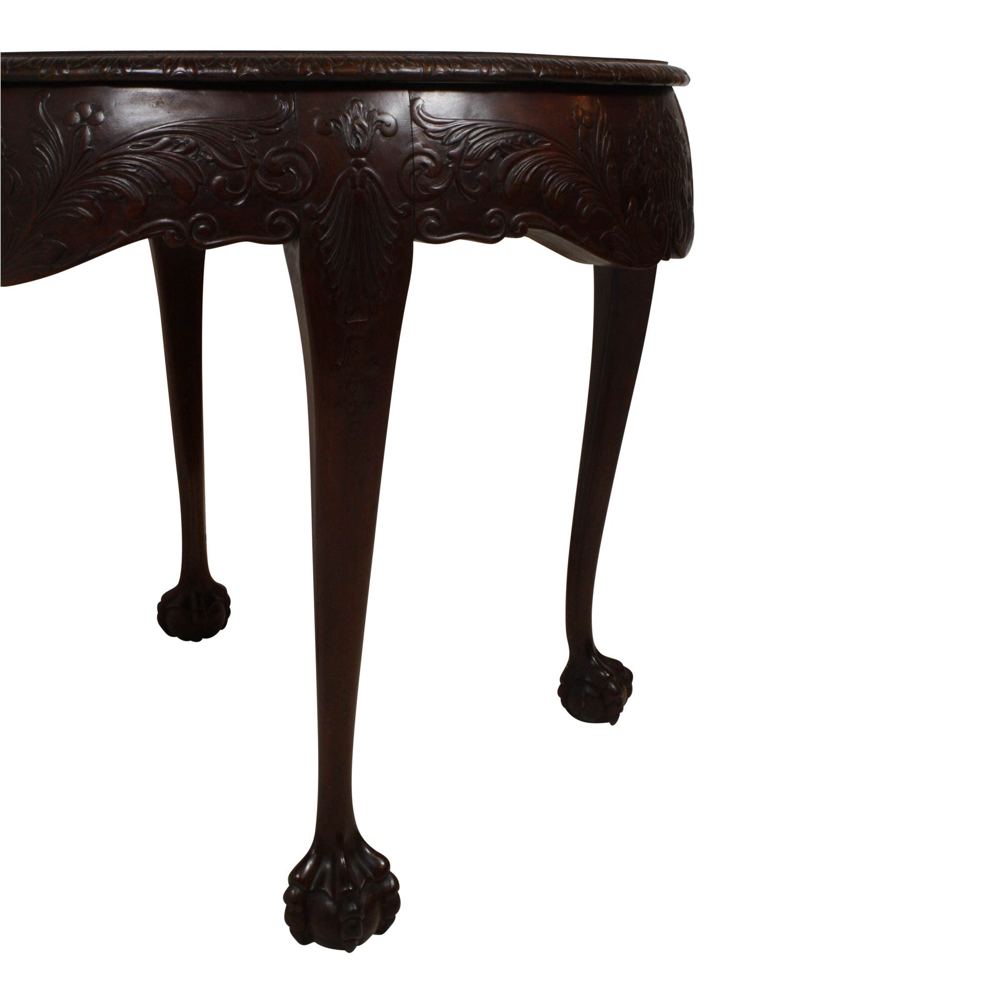 French Louis XV Ball And Claw Foot Side Table