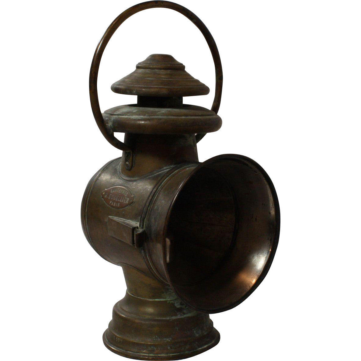 ski-country-antiques - French Copper Train Lamp