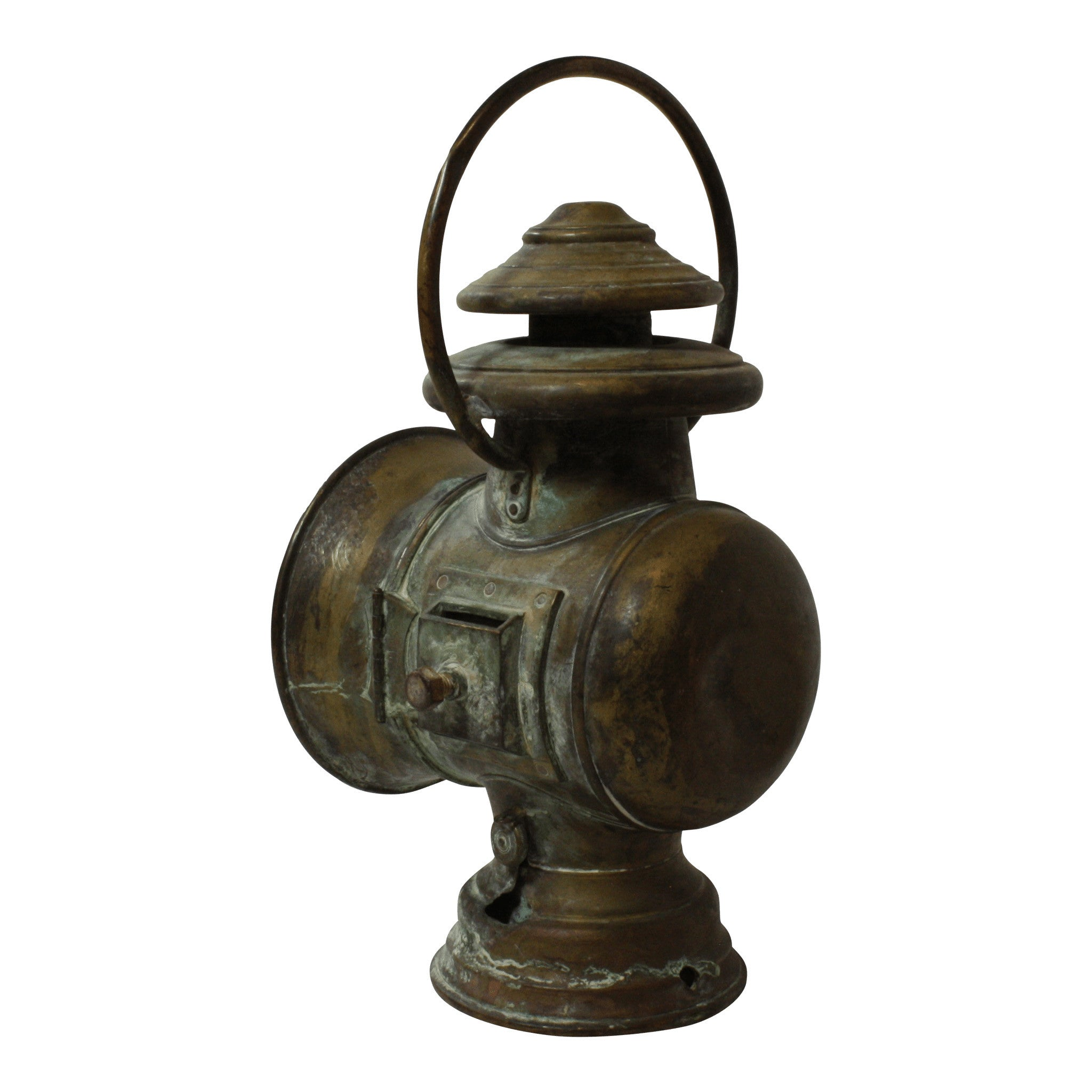 French Copper Train Lamp