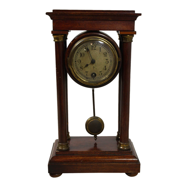 Antique Small Table Clock with Key