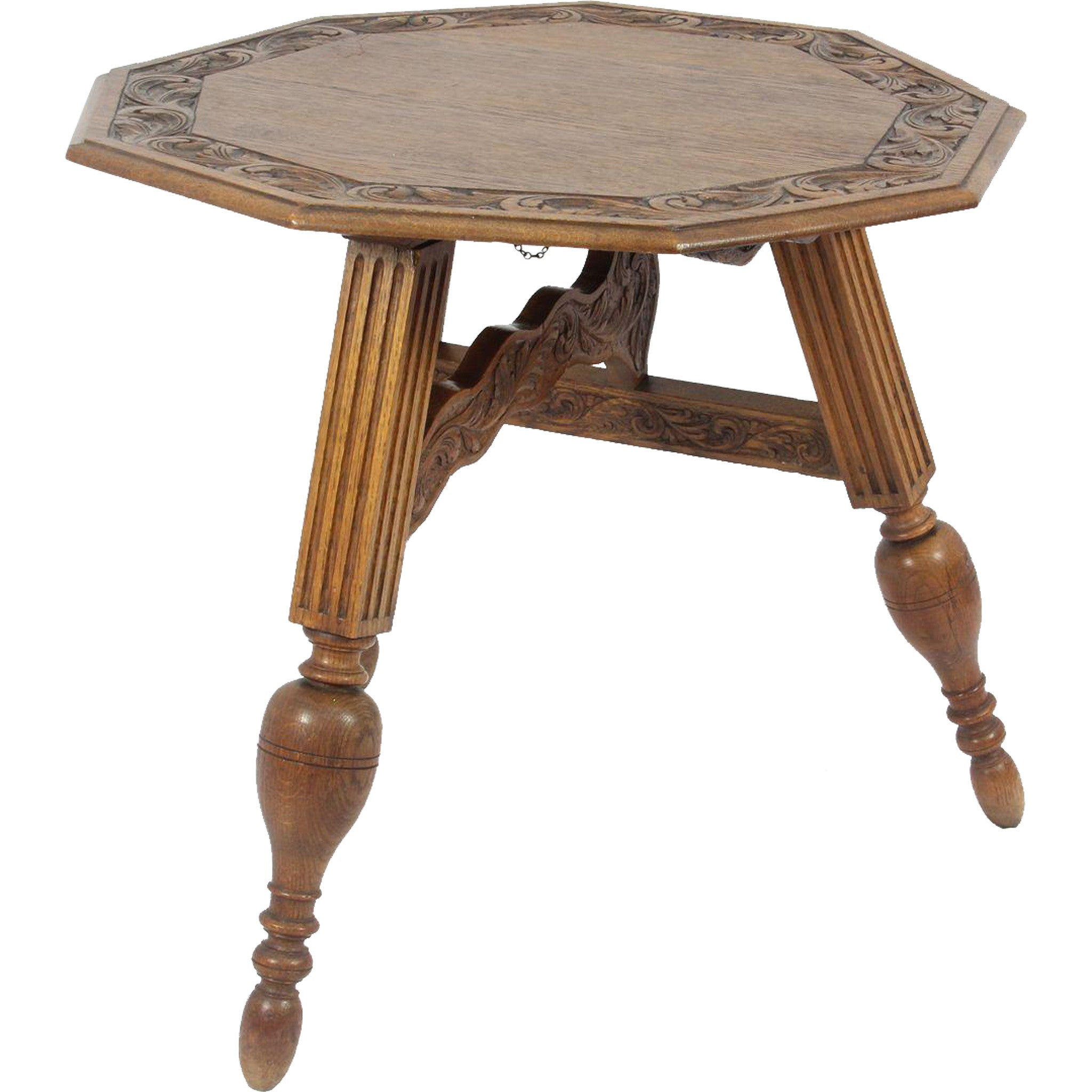 Carved Tilt Top Table