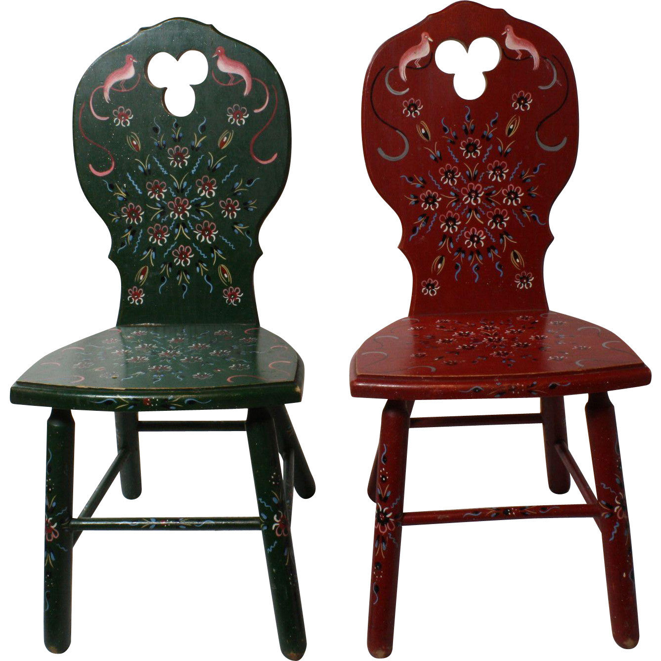 Scandinavian Painted Children's Play Chairs Set of 2