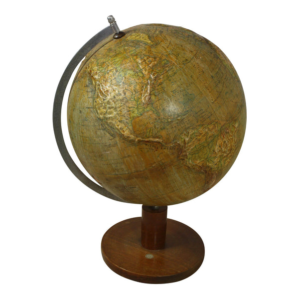 Antique German Globe Topographical with Elevation