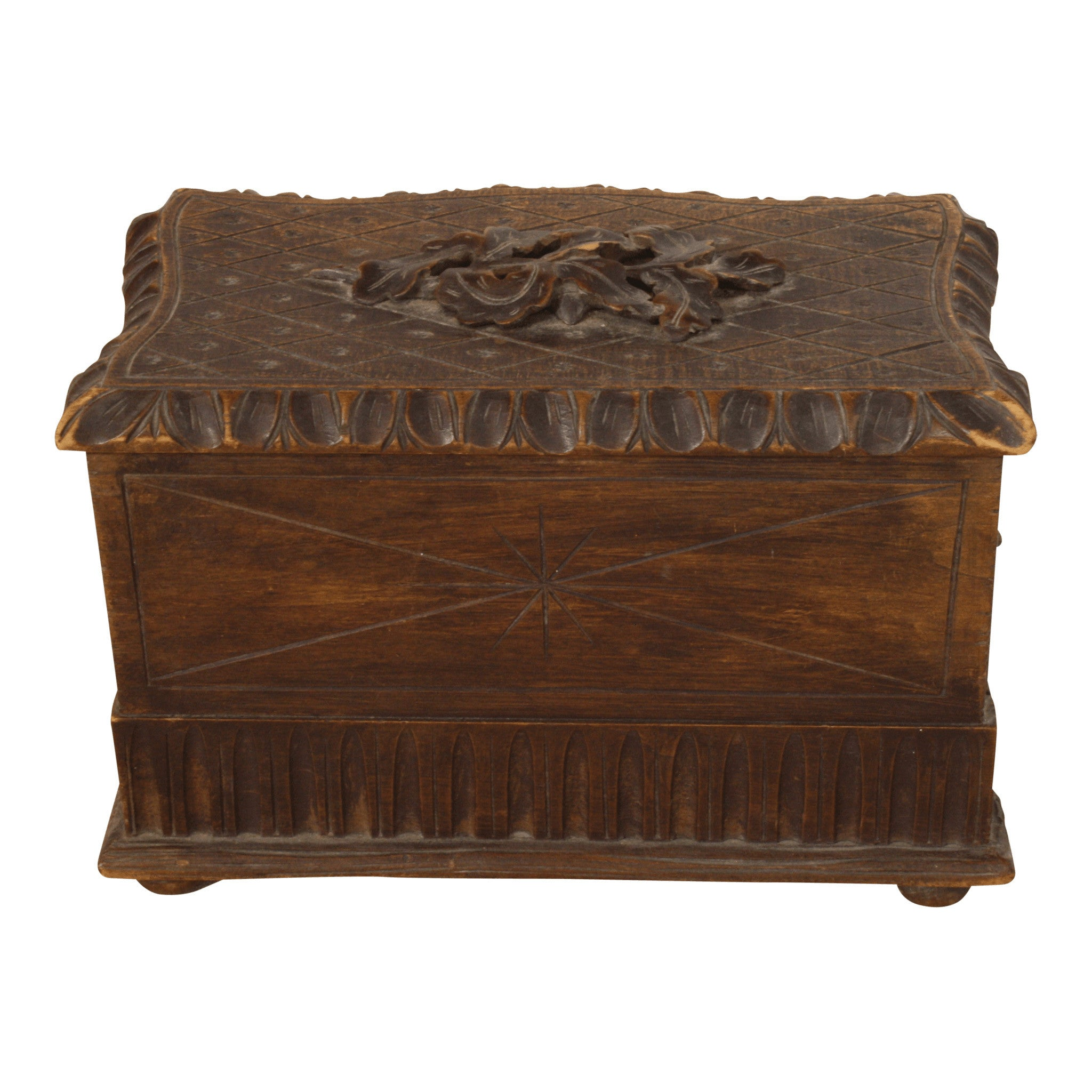 Petite Carved Jewelry Box