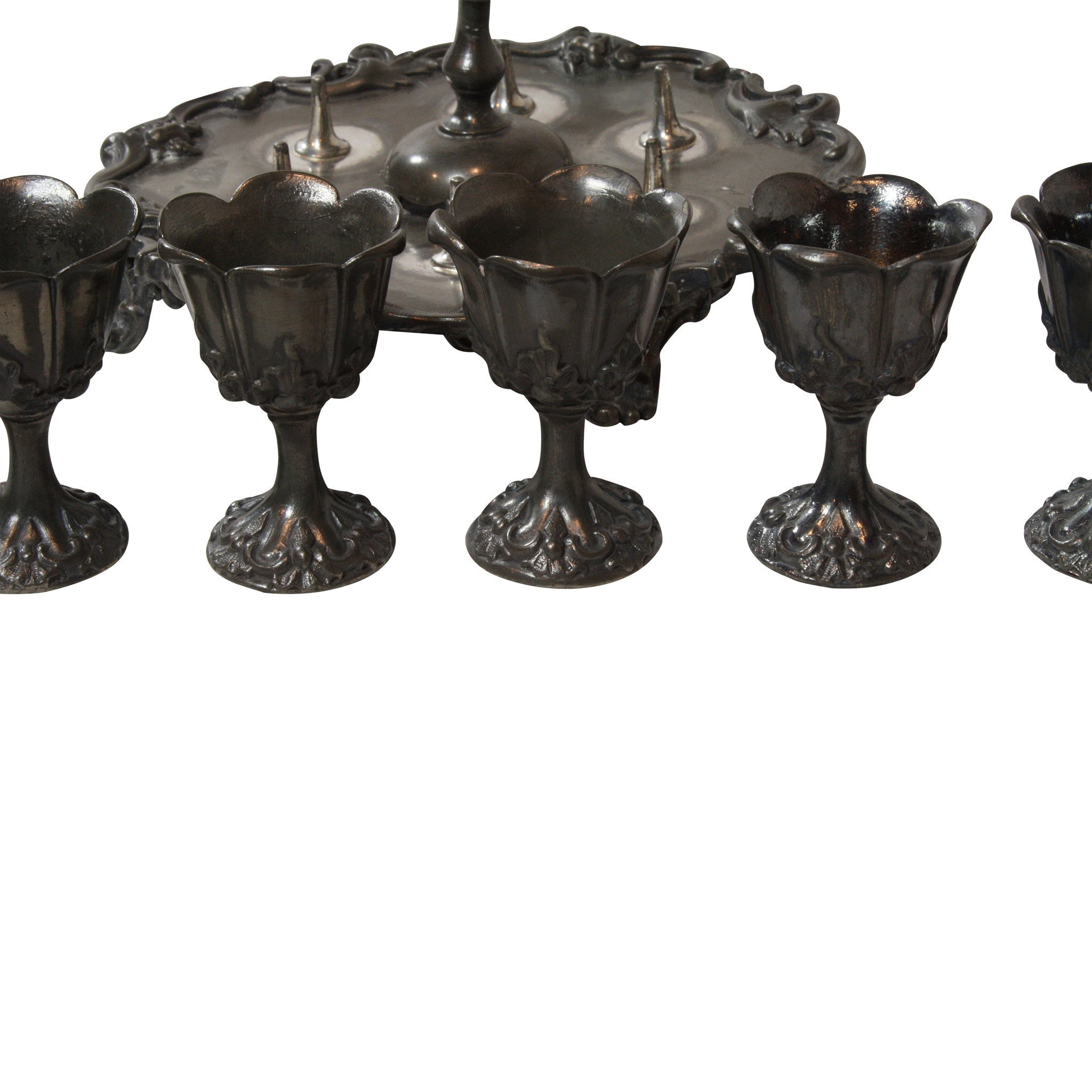 Pewter Egg Cup Set