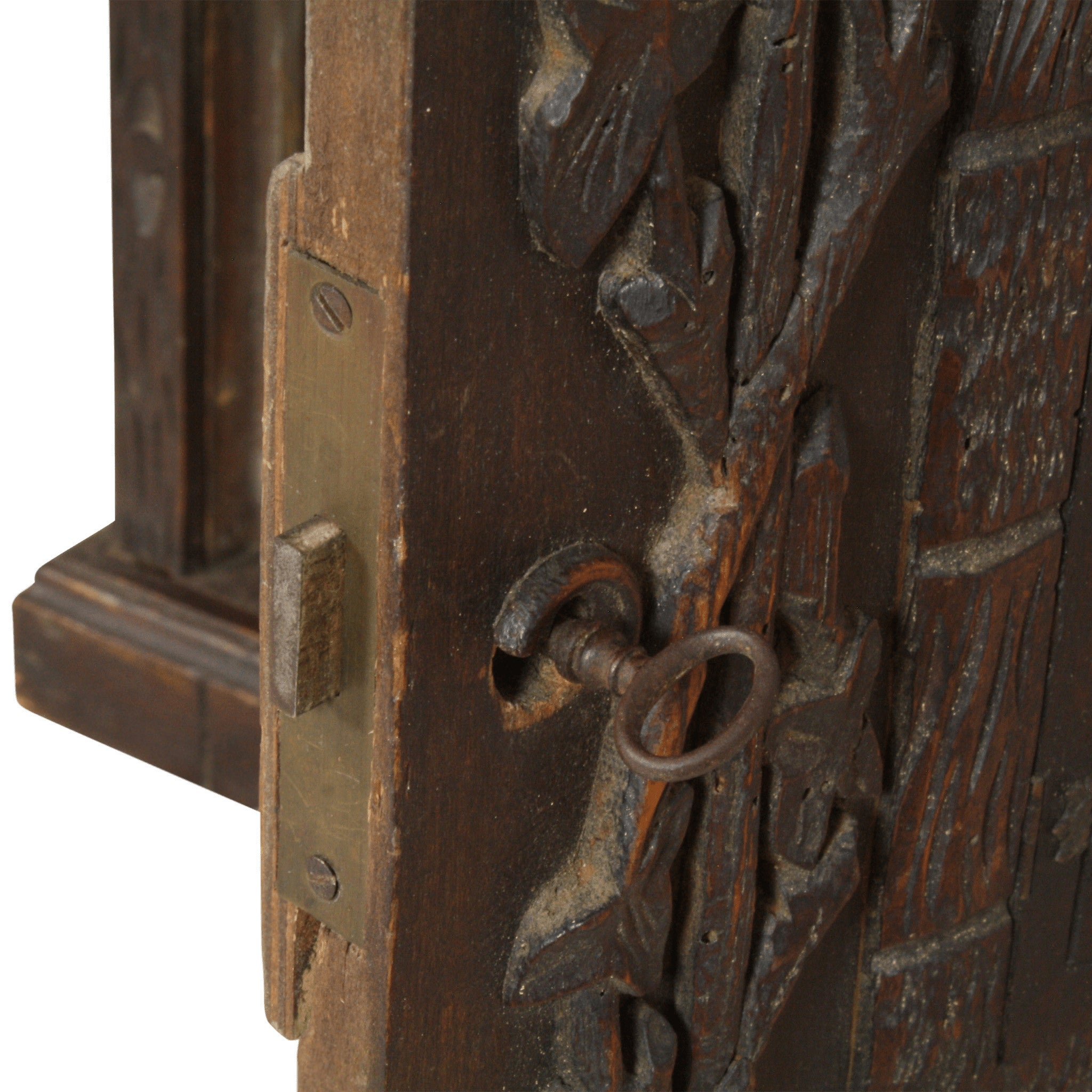 ski-country-antiques - Austrian Carved Apothecary Cabinet