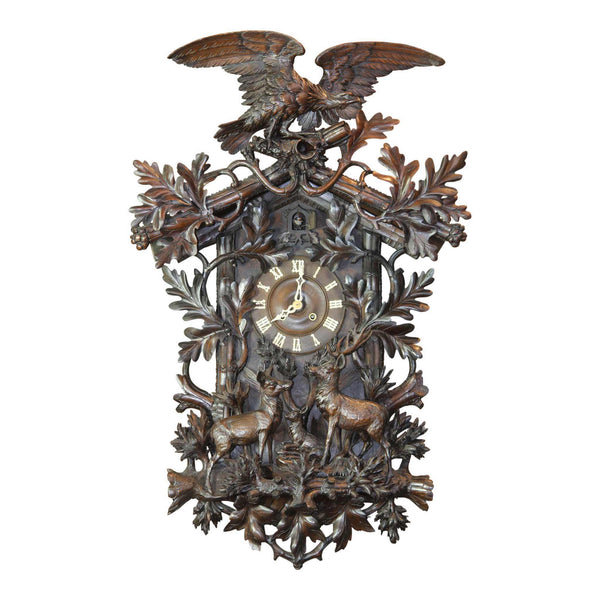 Black Forest Hunt Clock