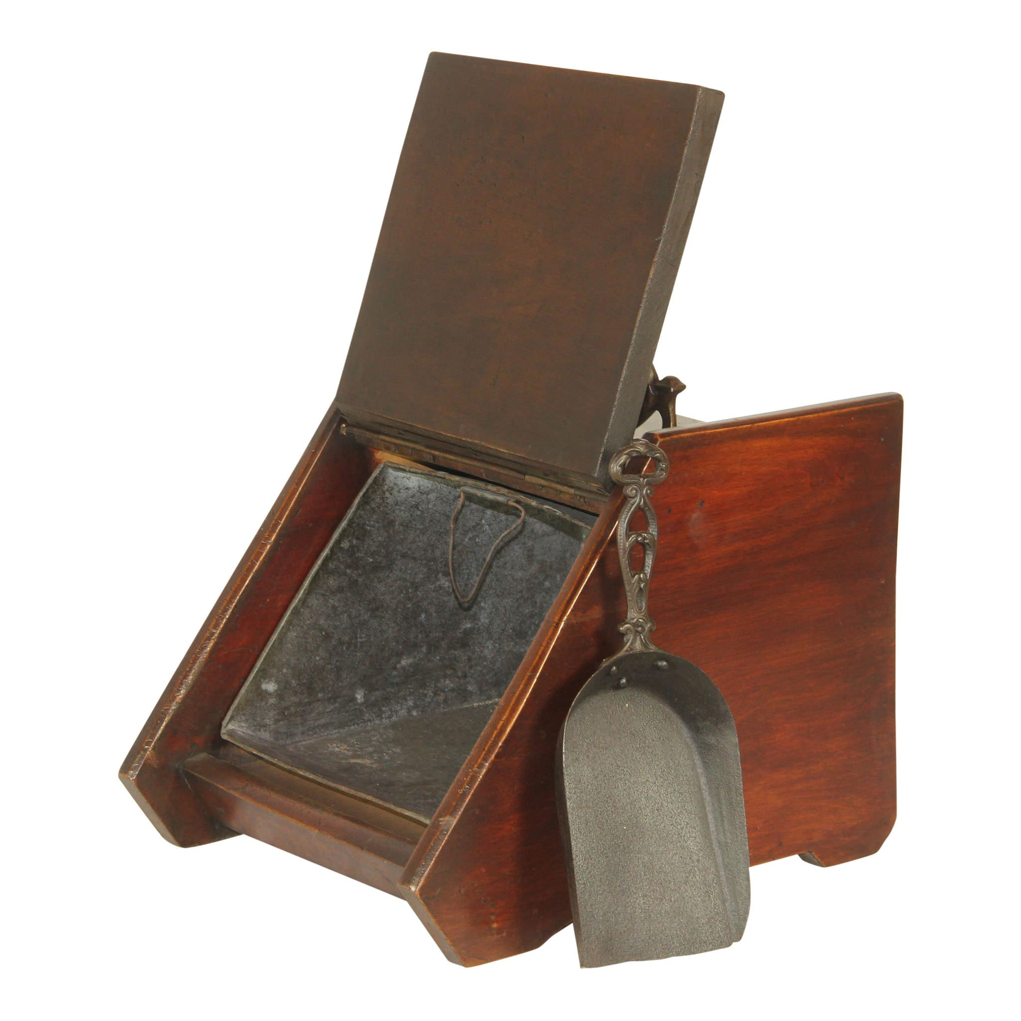 Coal Scuttle Bin/Box with Metal Scoop