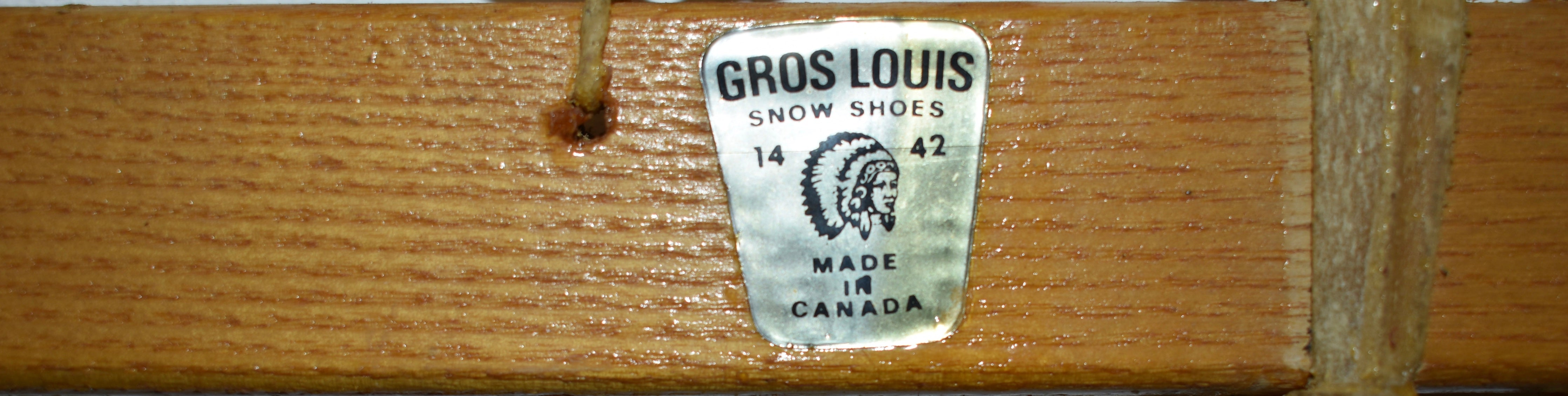 Canadian Huron Snowshoes by Gros-Louis