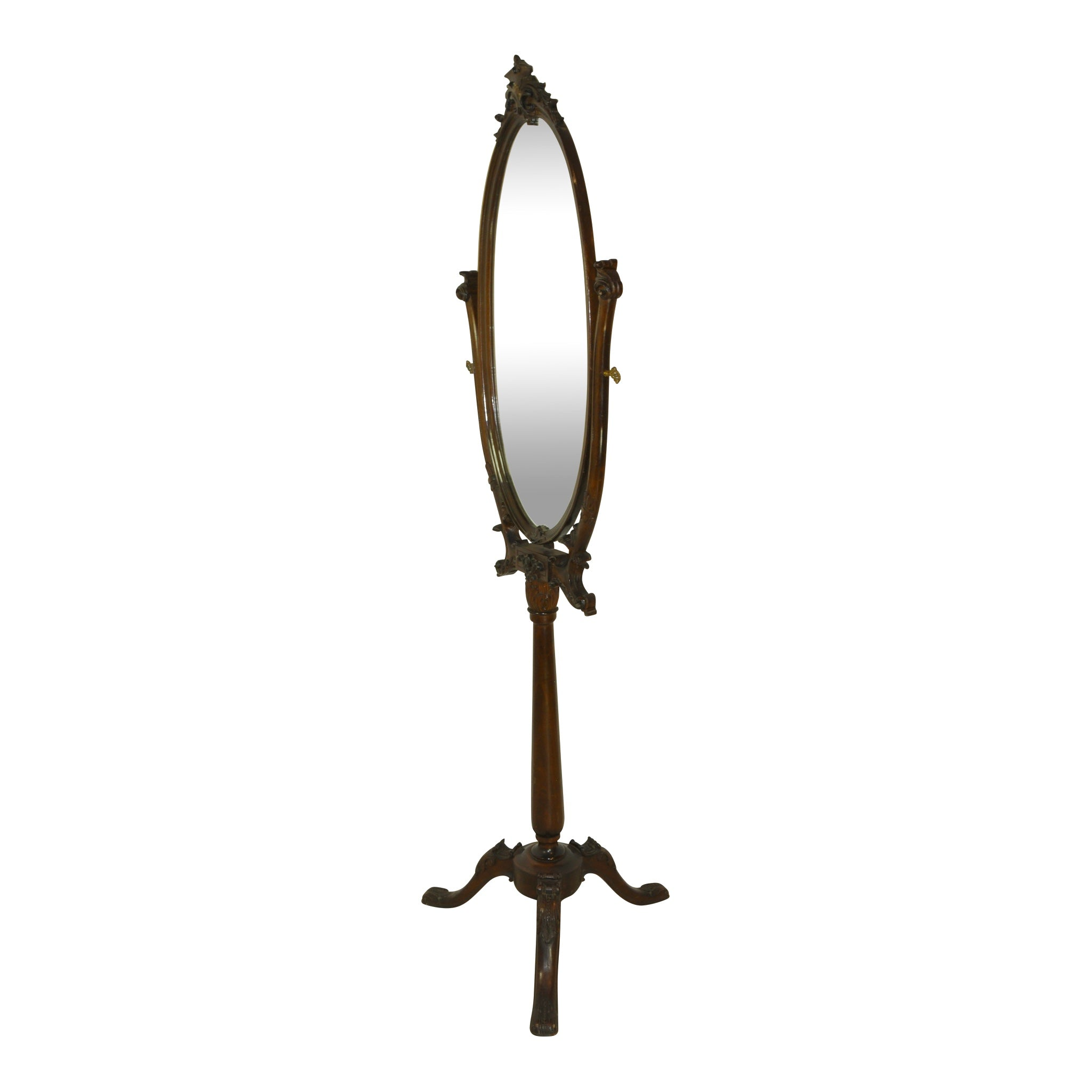 Oval Swivel Floor Mirror - Ski Country Antiques & Home