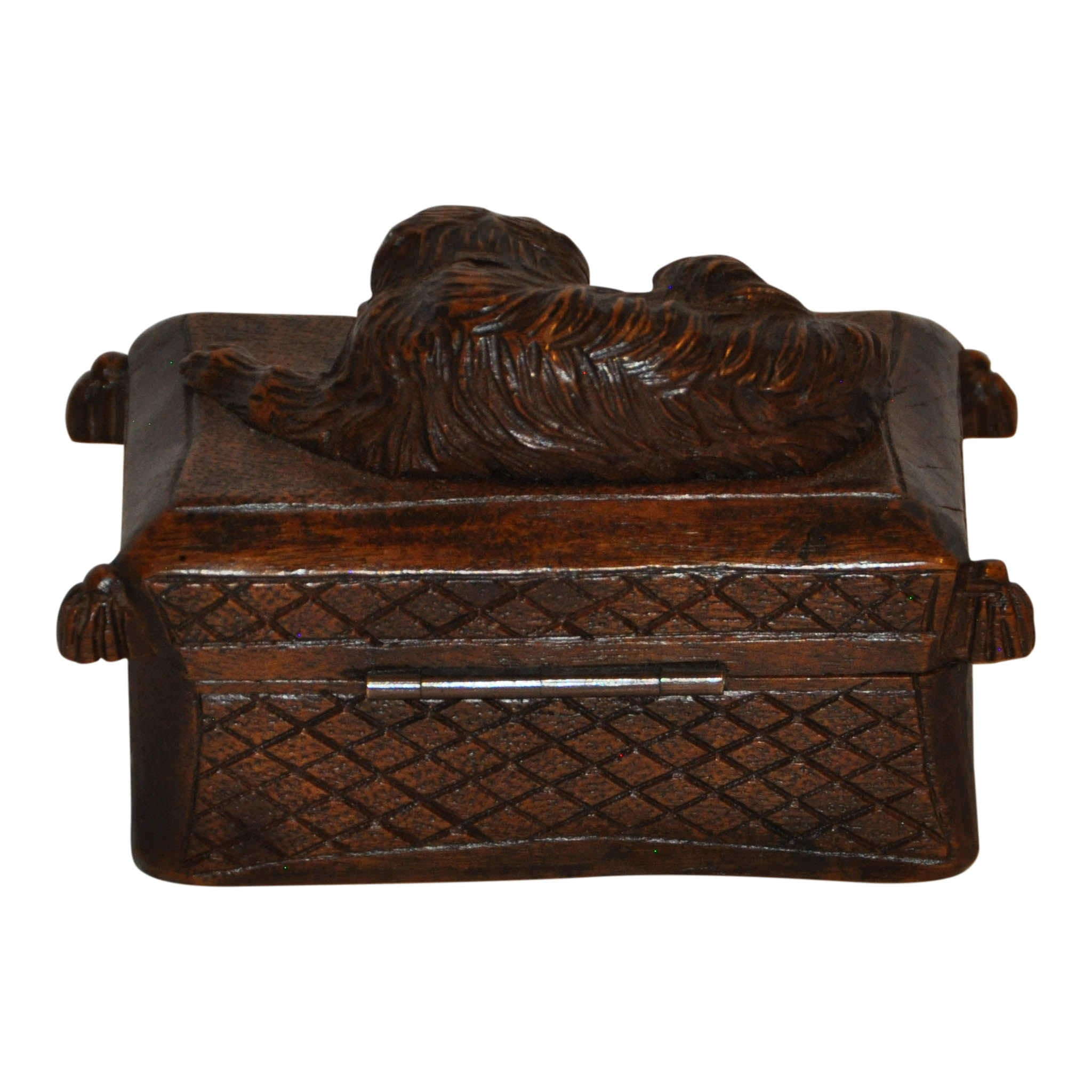 Carved Box with Dog