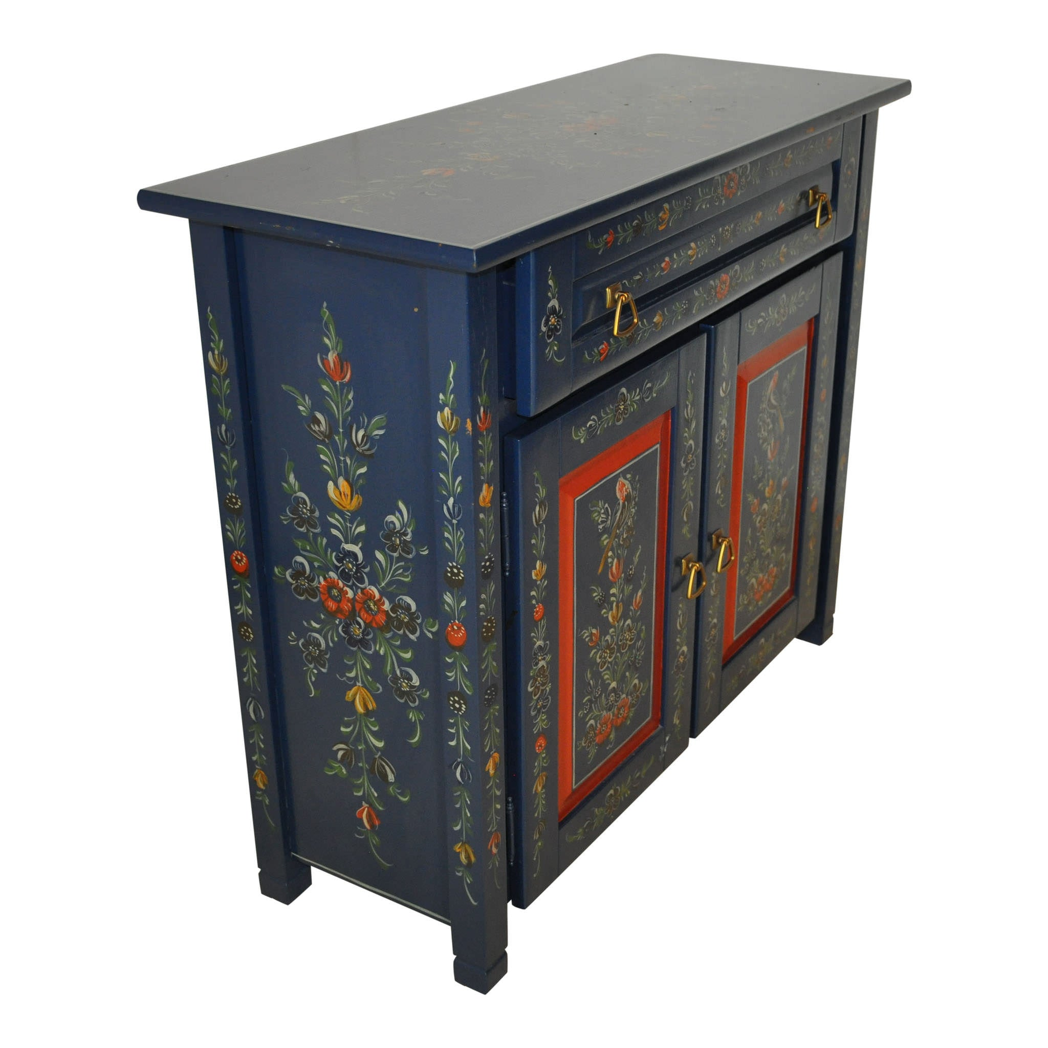 Dutch Hand Painted Cabinet