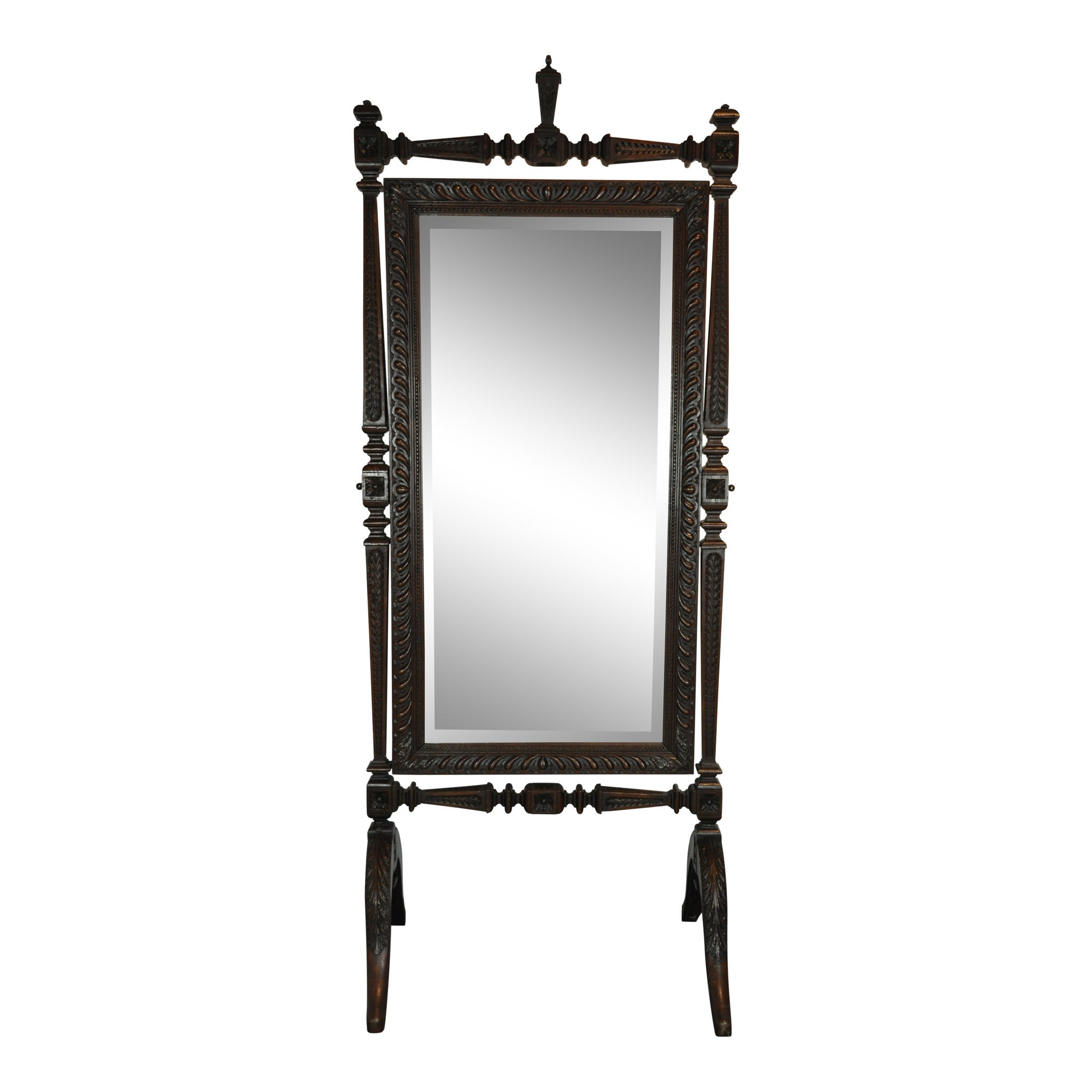 Carved Cheval Mirror