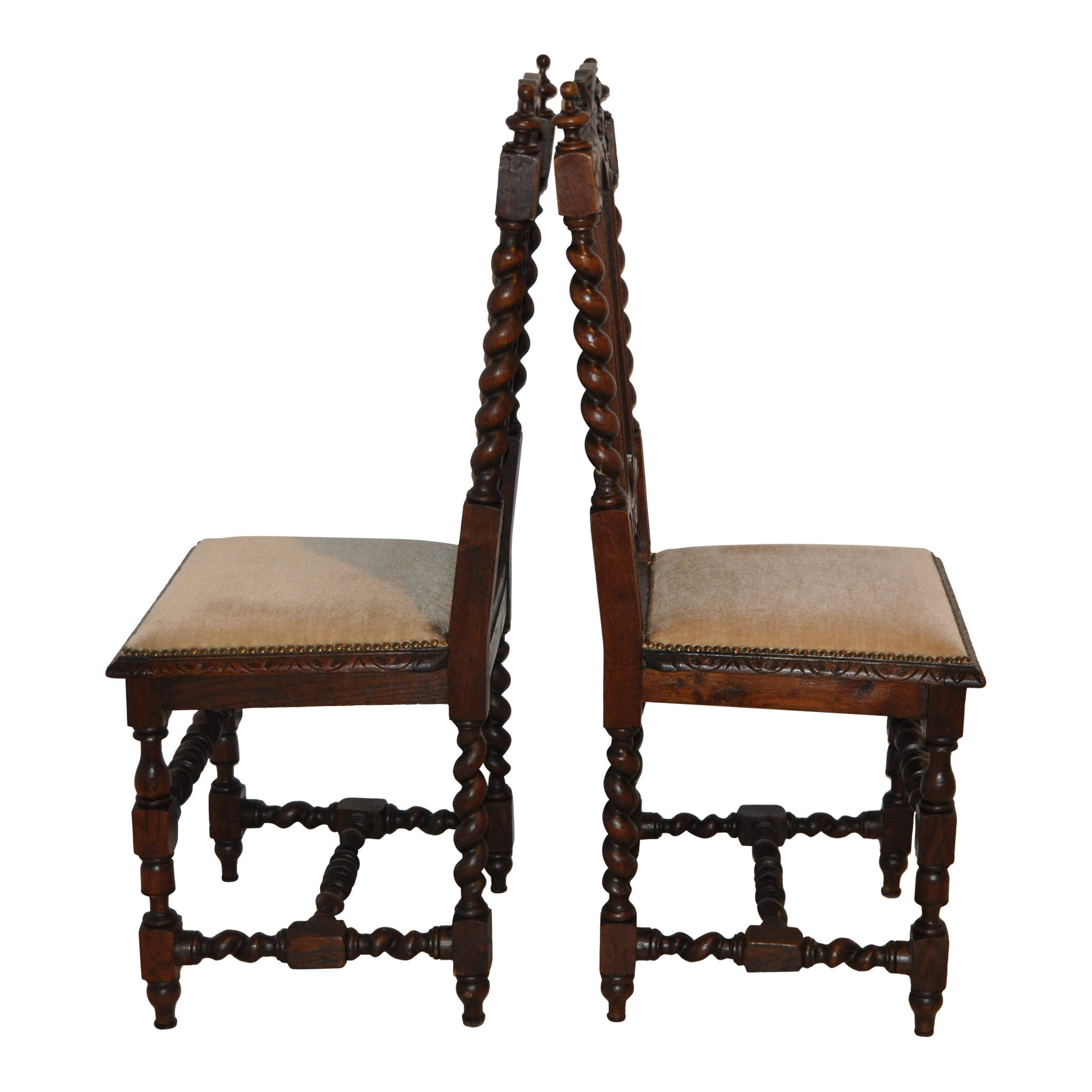 Carved Oak Chairs Set/2