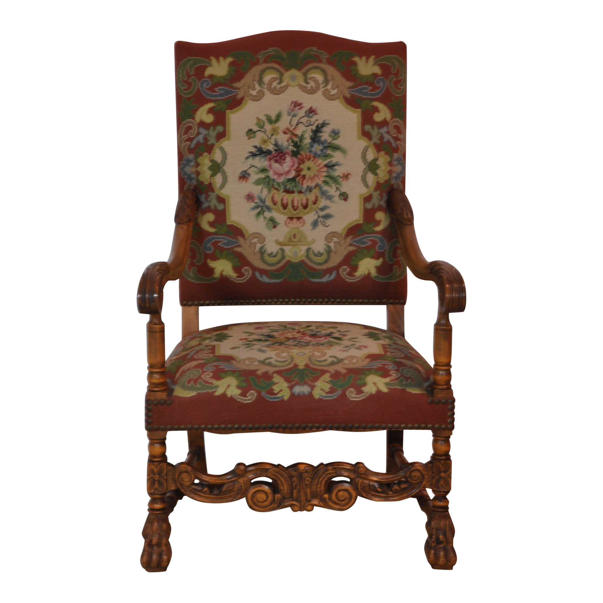 Delightful French Needlepoint Chair