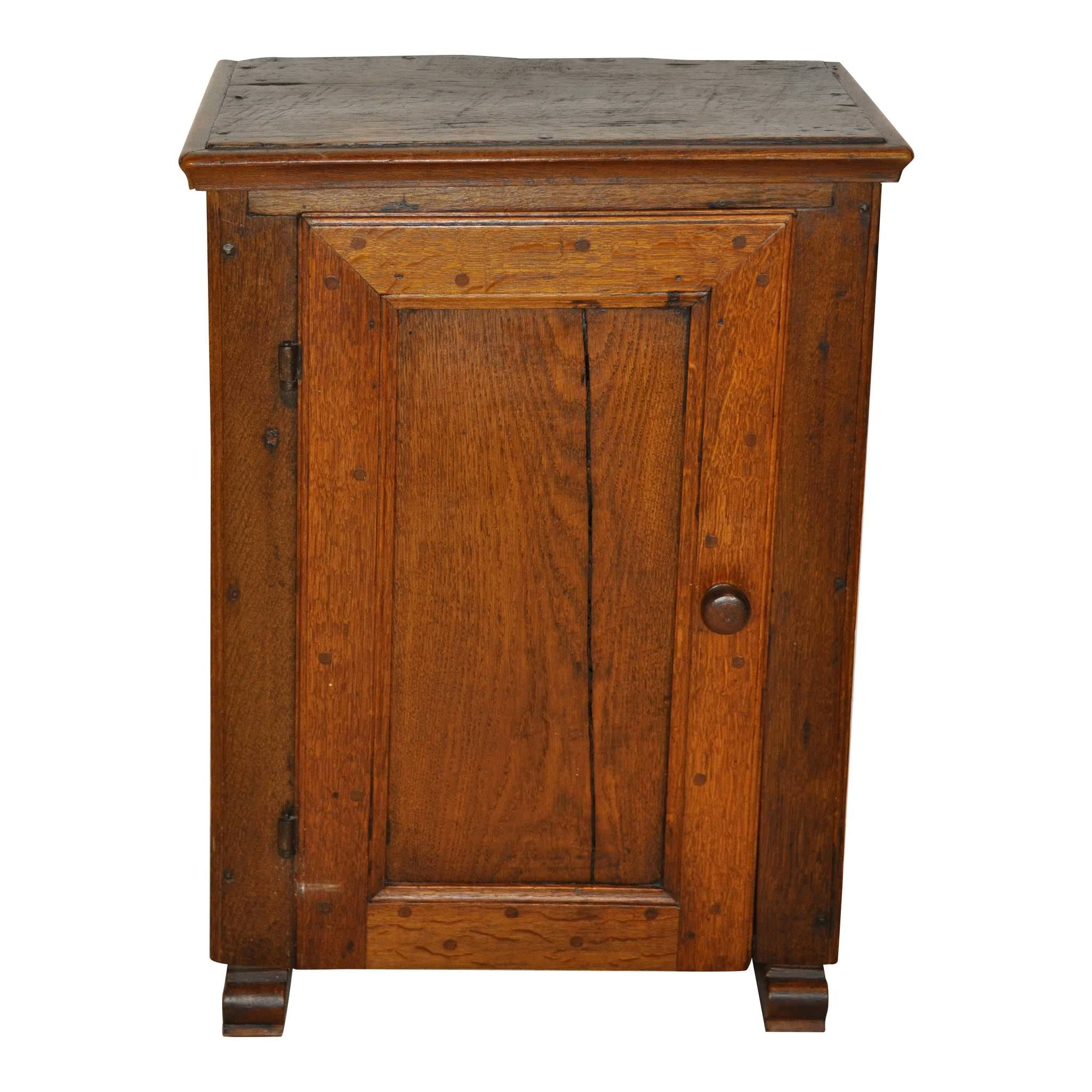 Small Rustic Oak Cabinet