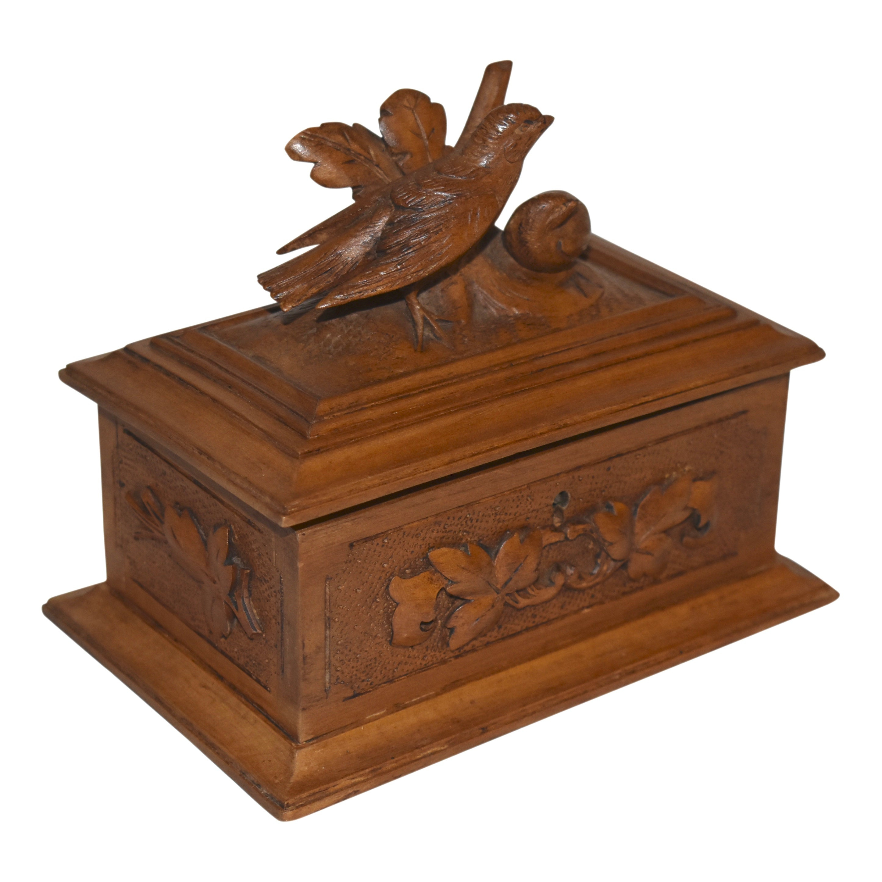 Jewelry Box with Carved Birds