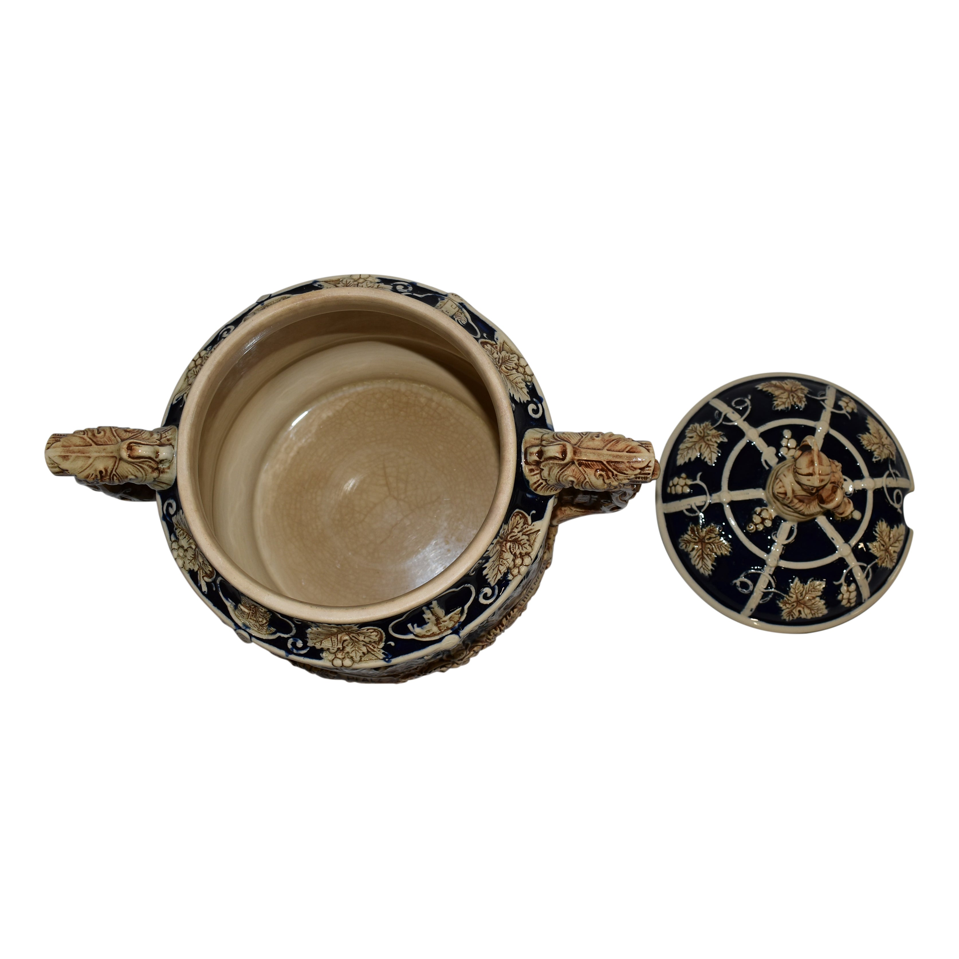 German Gluhwein Bowl with Lid and Cup Set