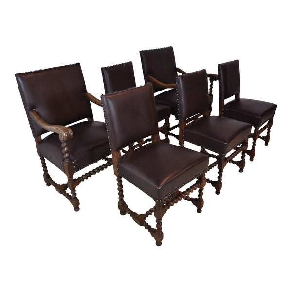French Twist Chairs Set/6