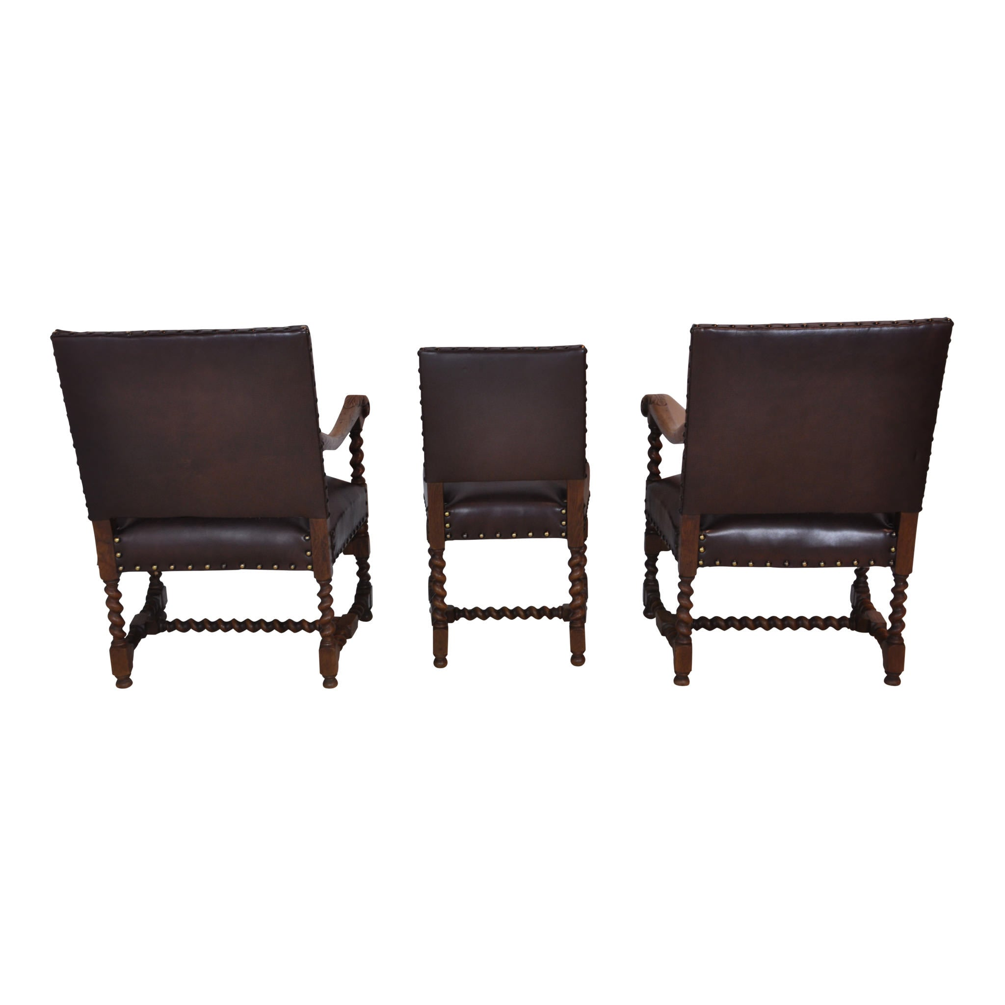 French Twist Chairs Set/6 (1stdibs)