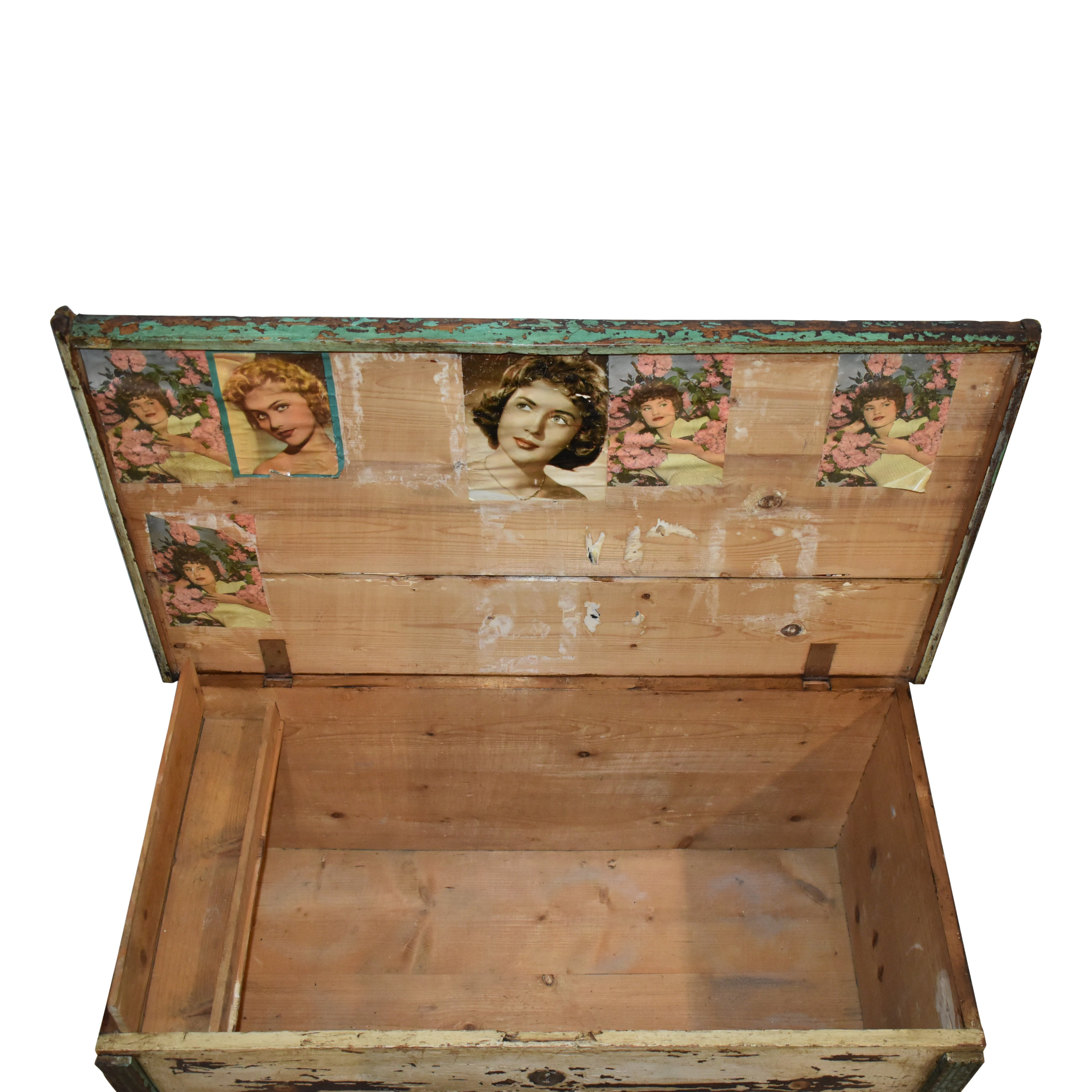 Painted Hope Chest with Lower Drawer