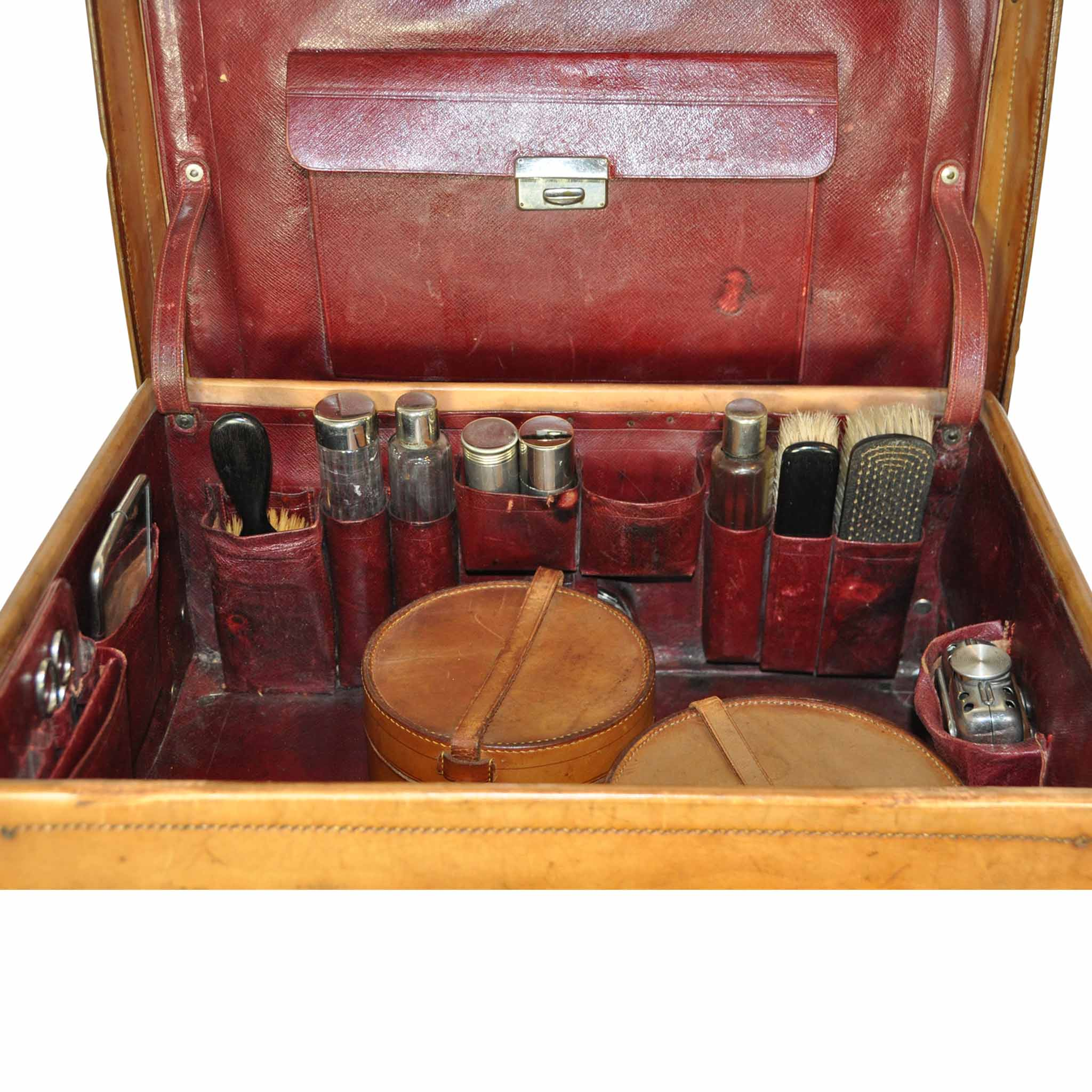 12bb0b8f349d Men's Leather Toiletry Travel Valise