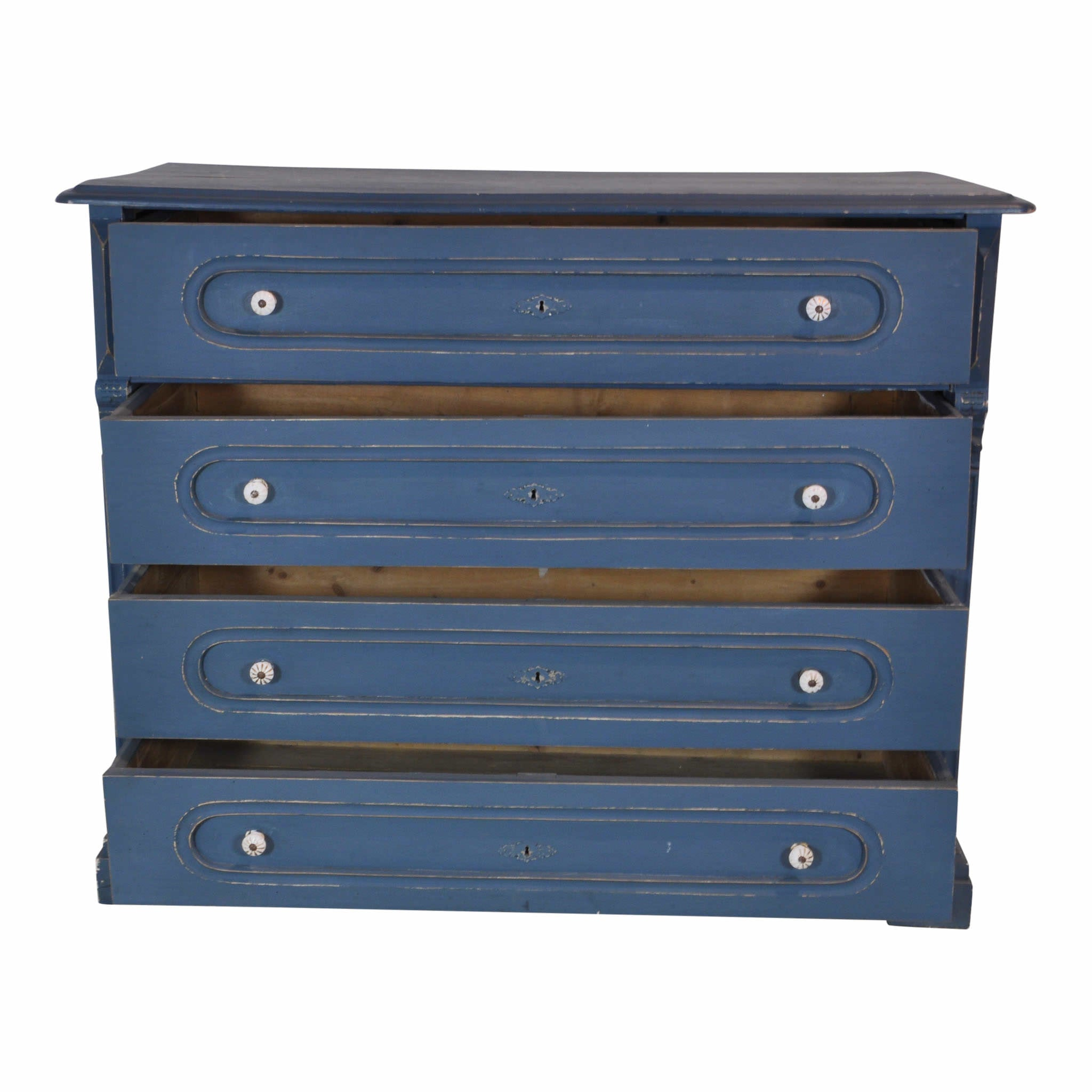 Pine Chest of Drawers Blue
