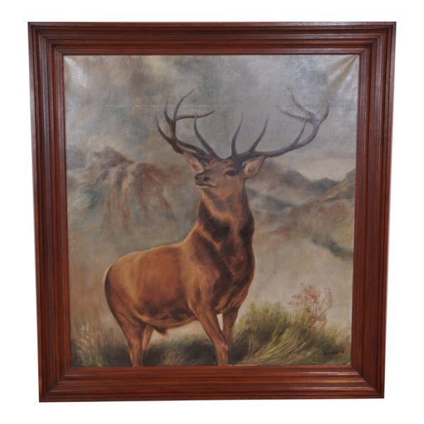 Stag Oil Painting
