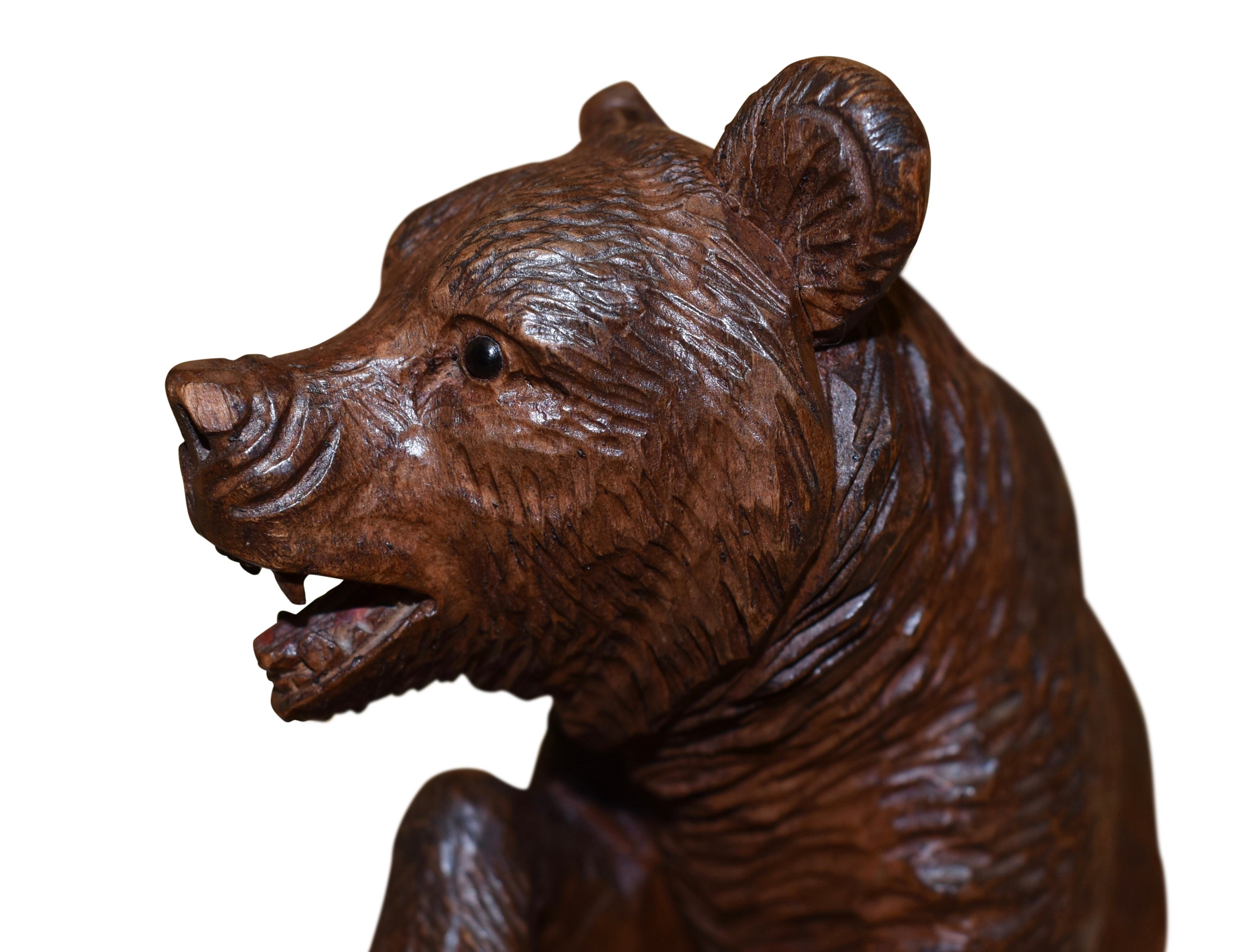 Carved Black Forest Bear with Ashtray