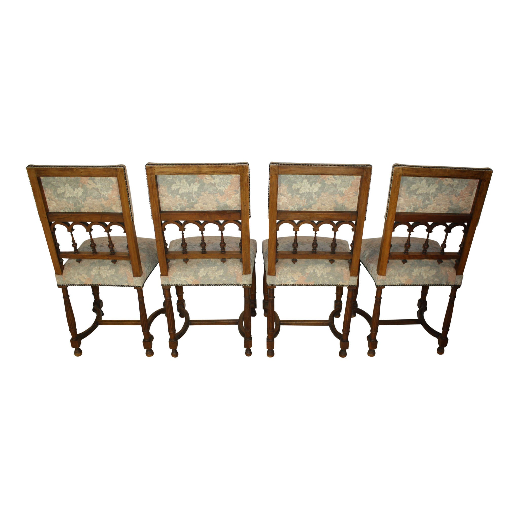French Walnut Chairs - Set of Four