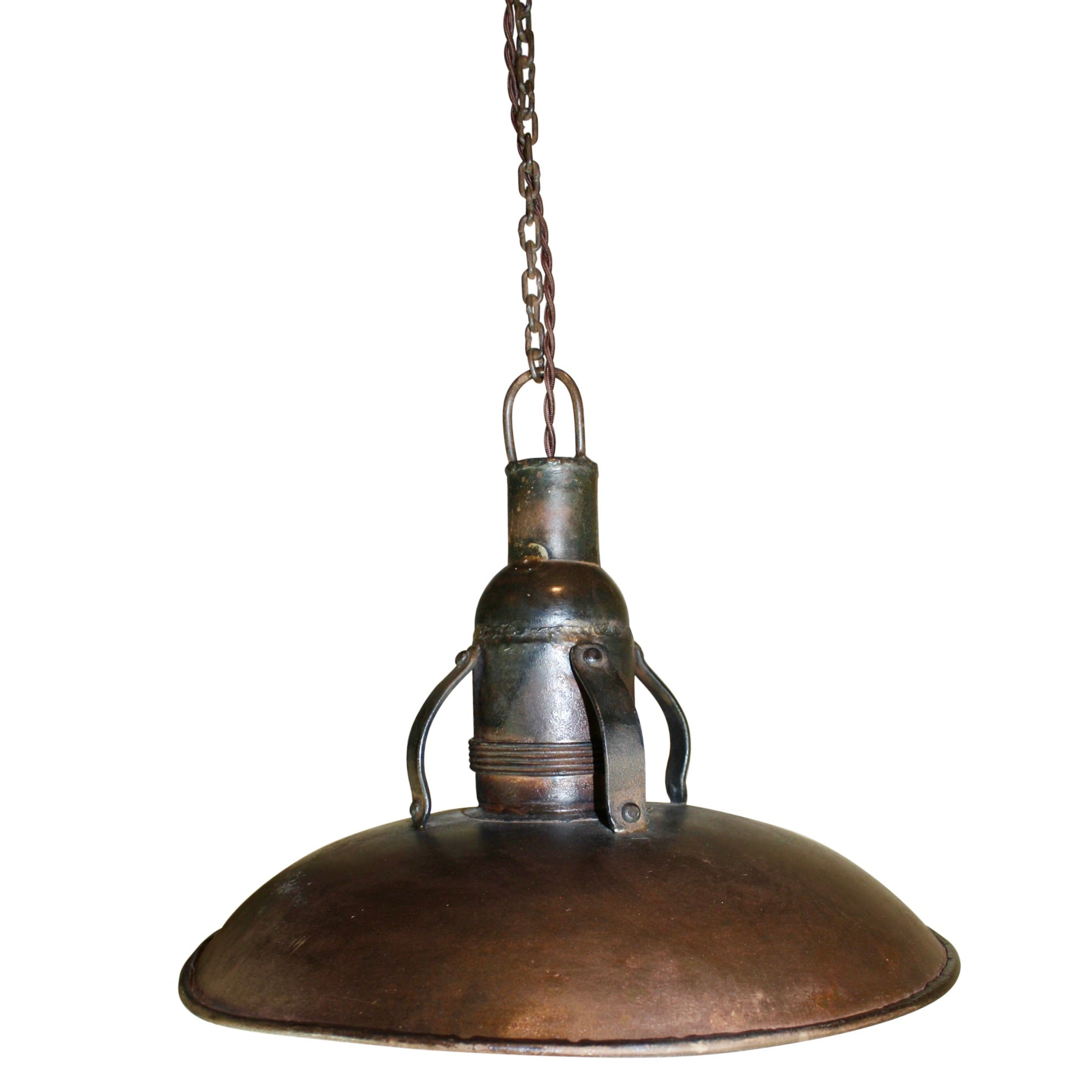 Industrial Metal Pendant Light with Chain