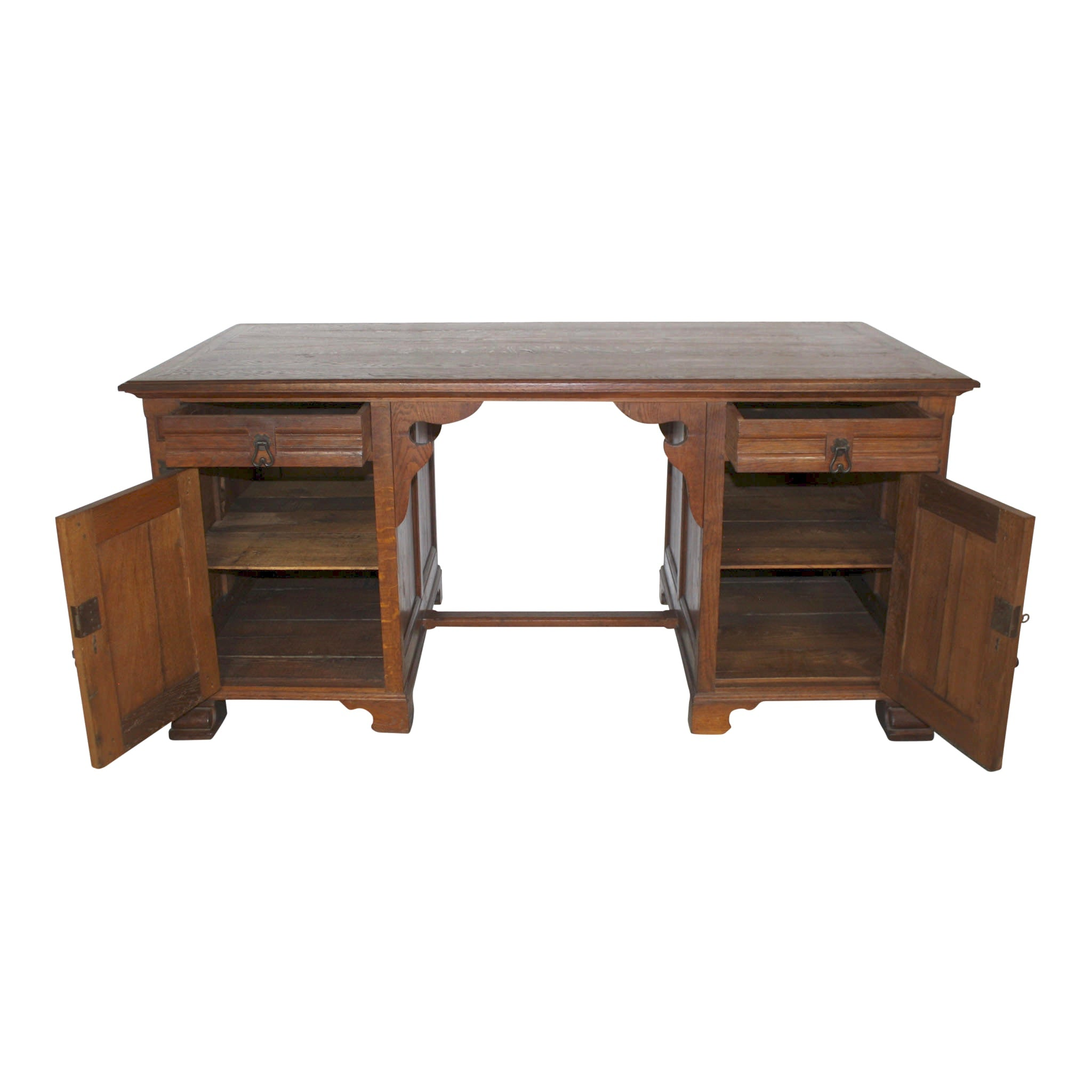 Dutch Carved Executive Oak Desk