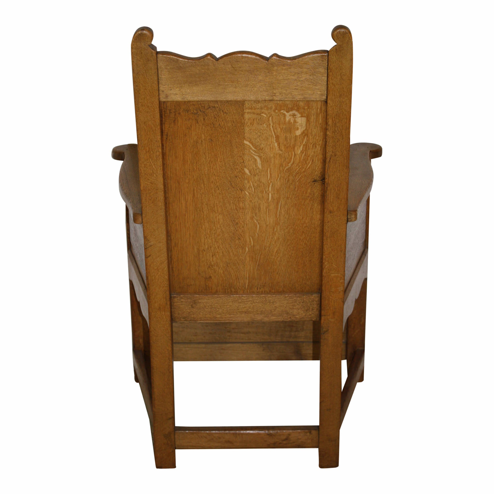 Rustic Dutch Oak Armchair