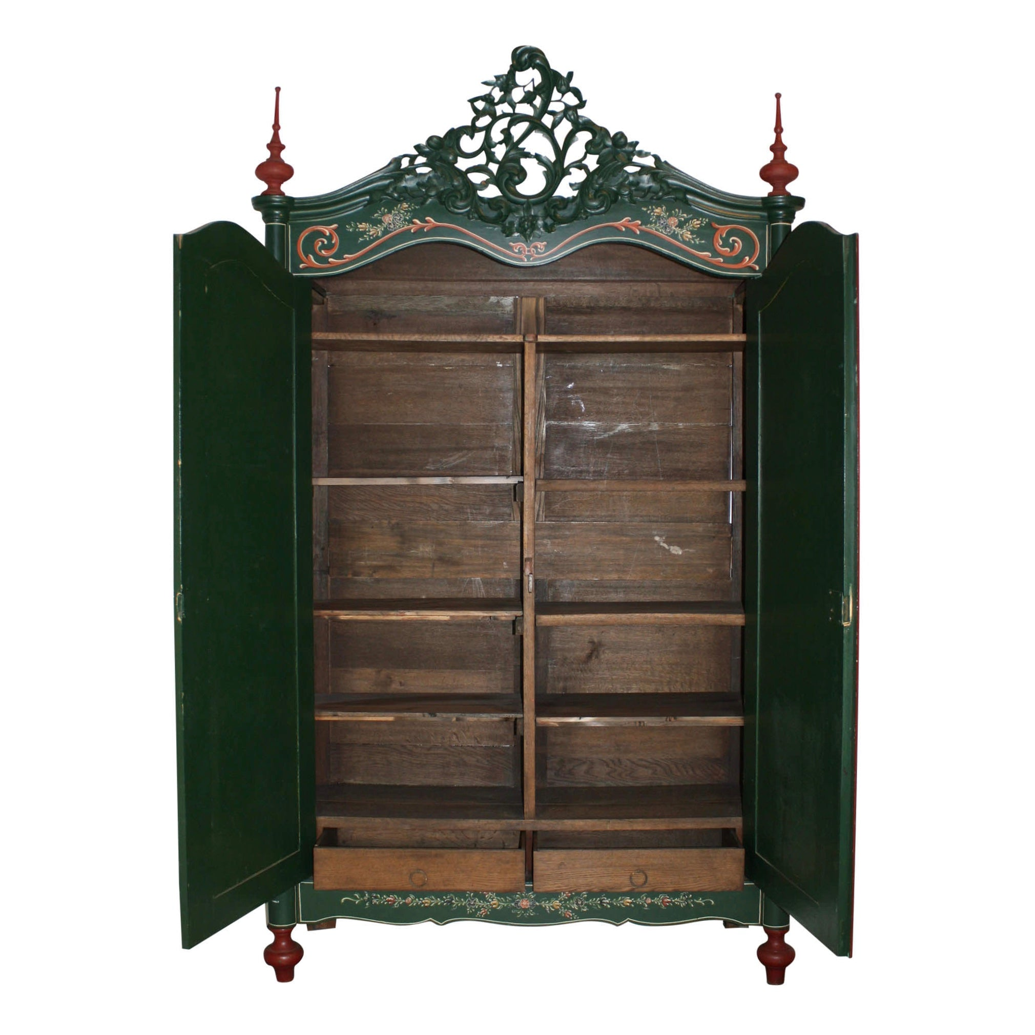 William III Painted Dutch Wardrobe