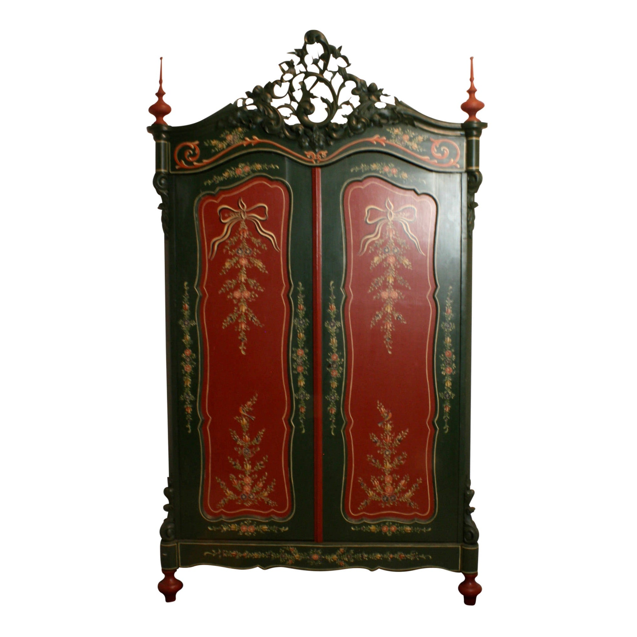 William III Dutch Painted Wardrobe