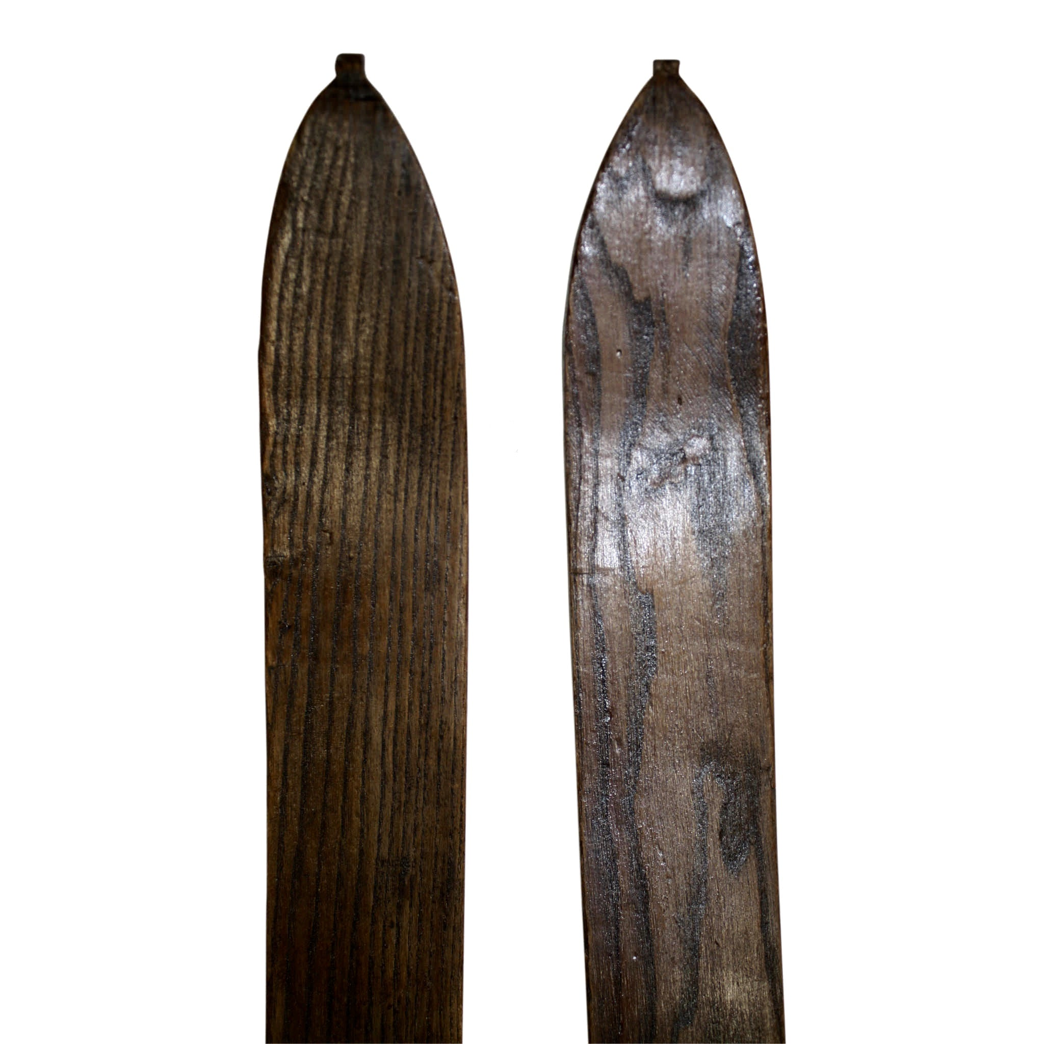 Wooden Skis with Massag Bindings
