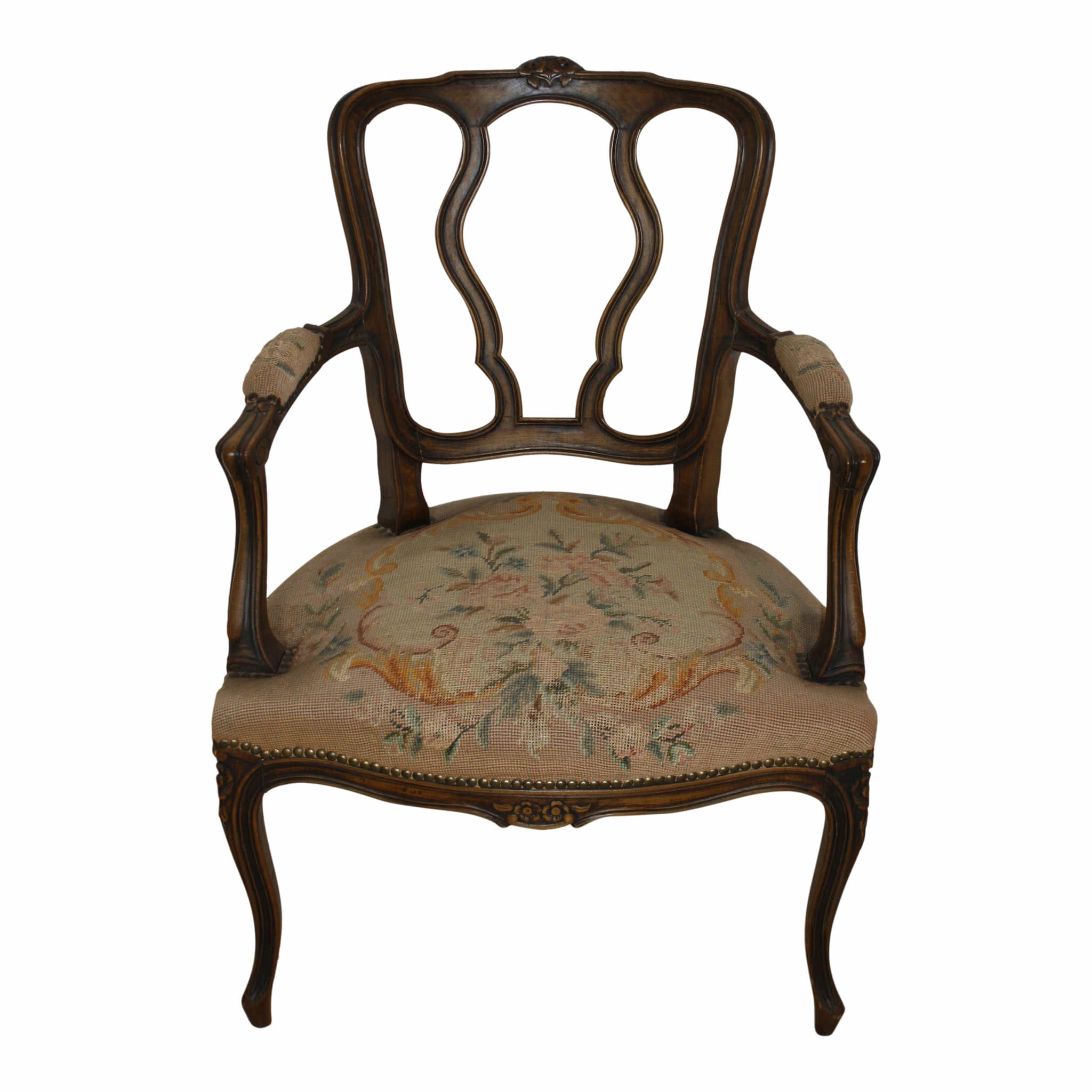 French Fauteuil Needlepoint Armchair