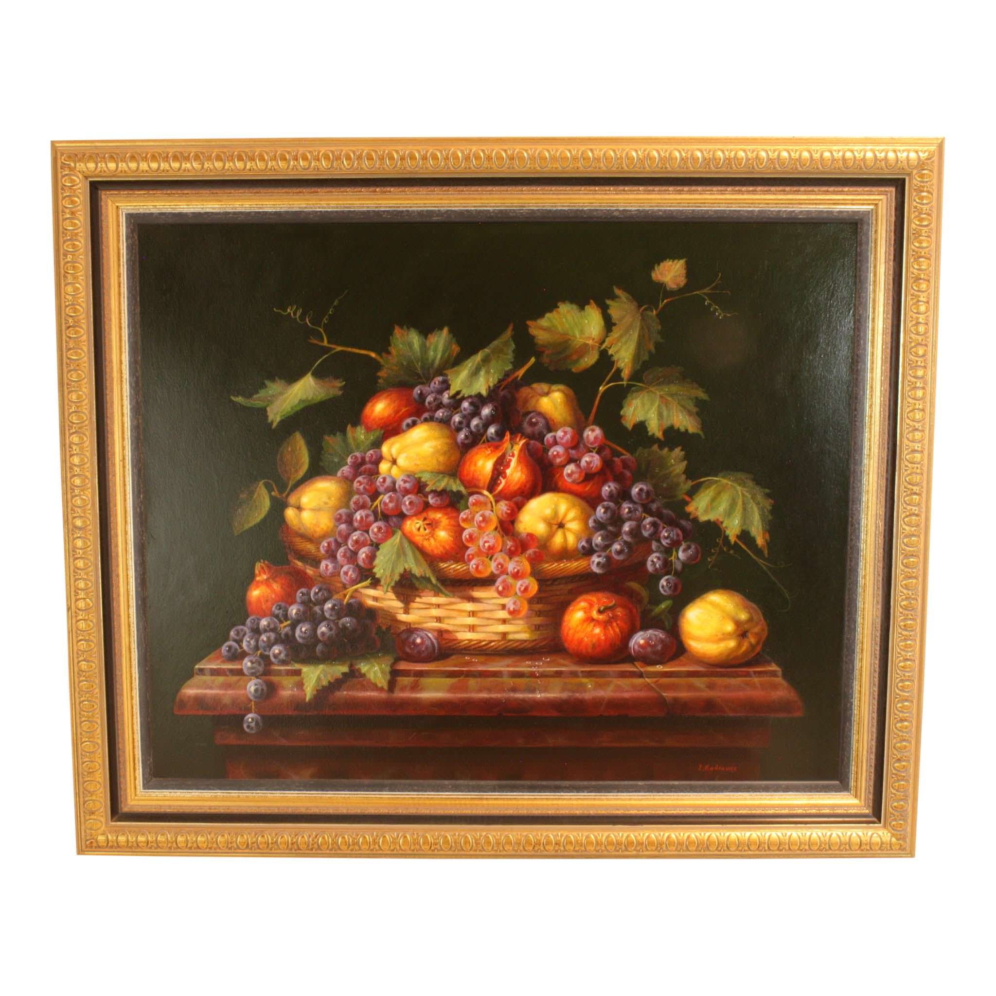 Fruit in a Basket Painting