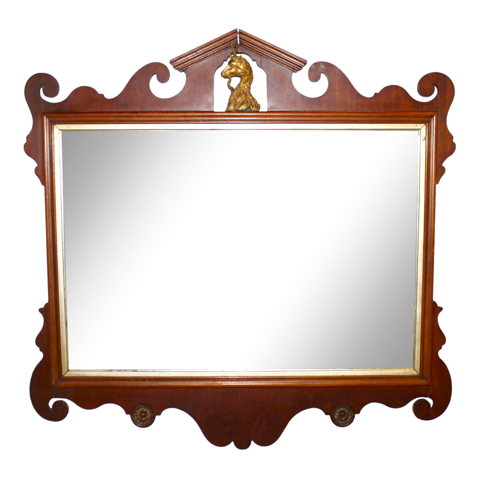 English Mahogany Mirror