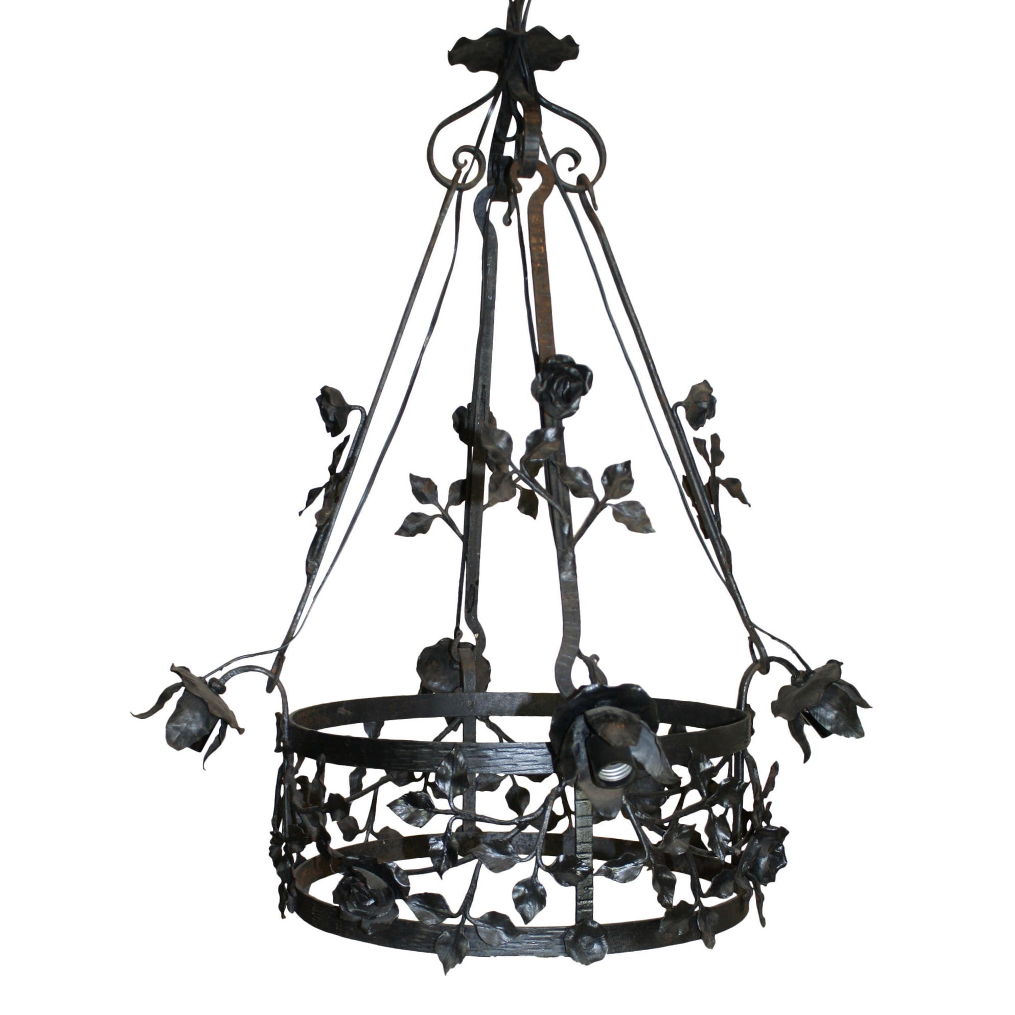 French iron chandelier ski country antiques home french iron chandelier aloadofball Gallery