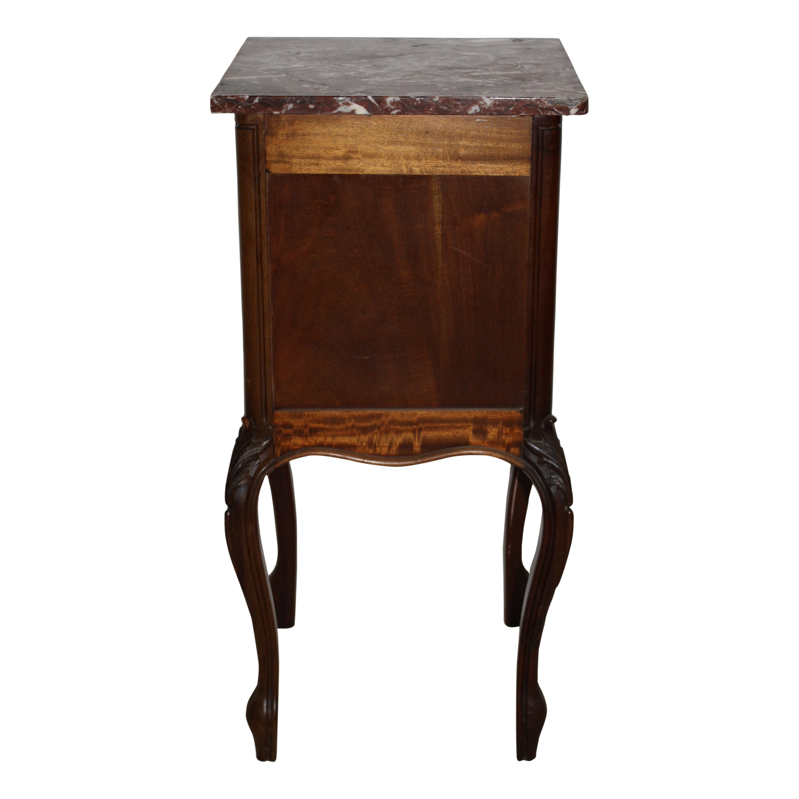 Walnut Nightstand with Marble Top