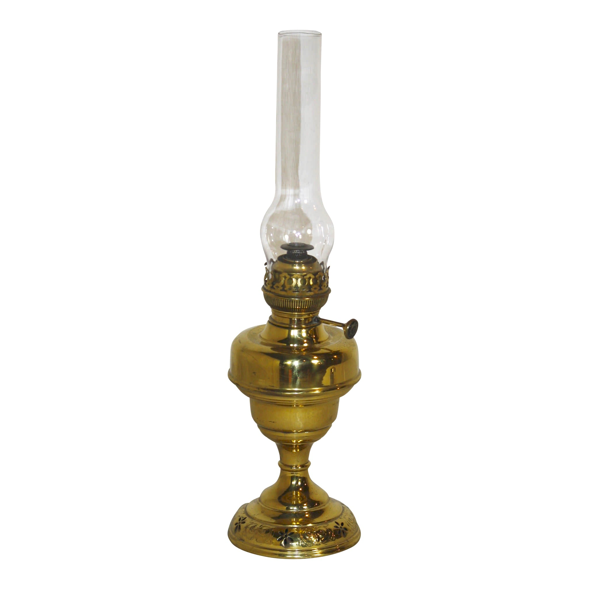 Lemperuer & Bernard Brass Oil Lamp