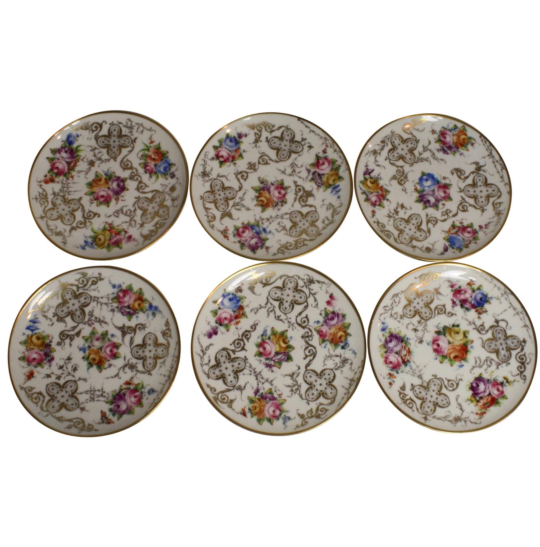 Porcelain Dessert Plates/Set of Six  sc 1 st  Ski Country Antiques & Porcelain Dessert Plates/Set of Six - Ski Country Antiques u0026 Home