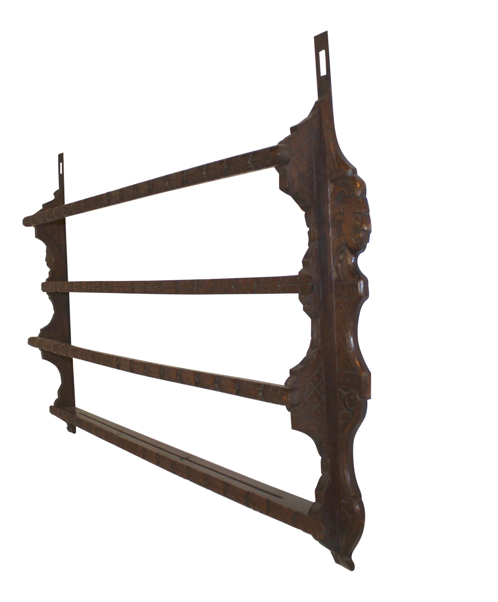 French Oak Carved Plate Rack
