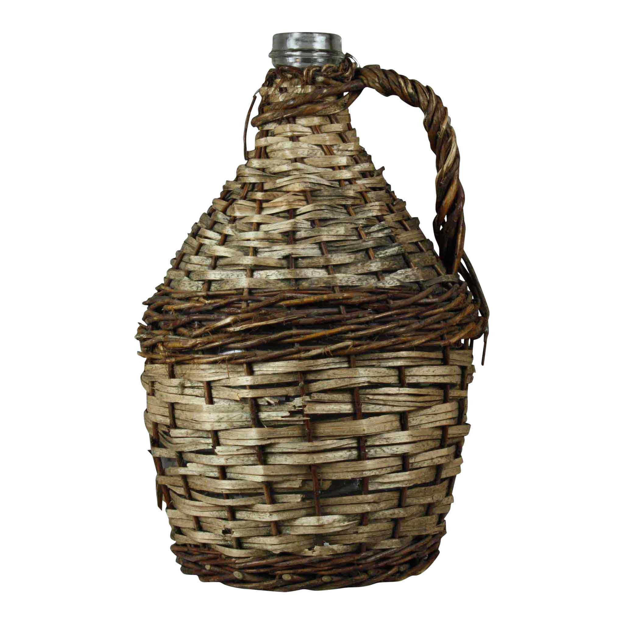 Wicker Wine Bottle (Large)
