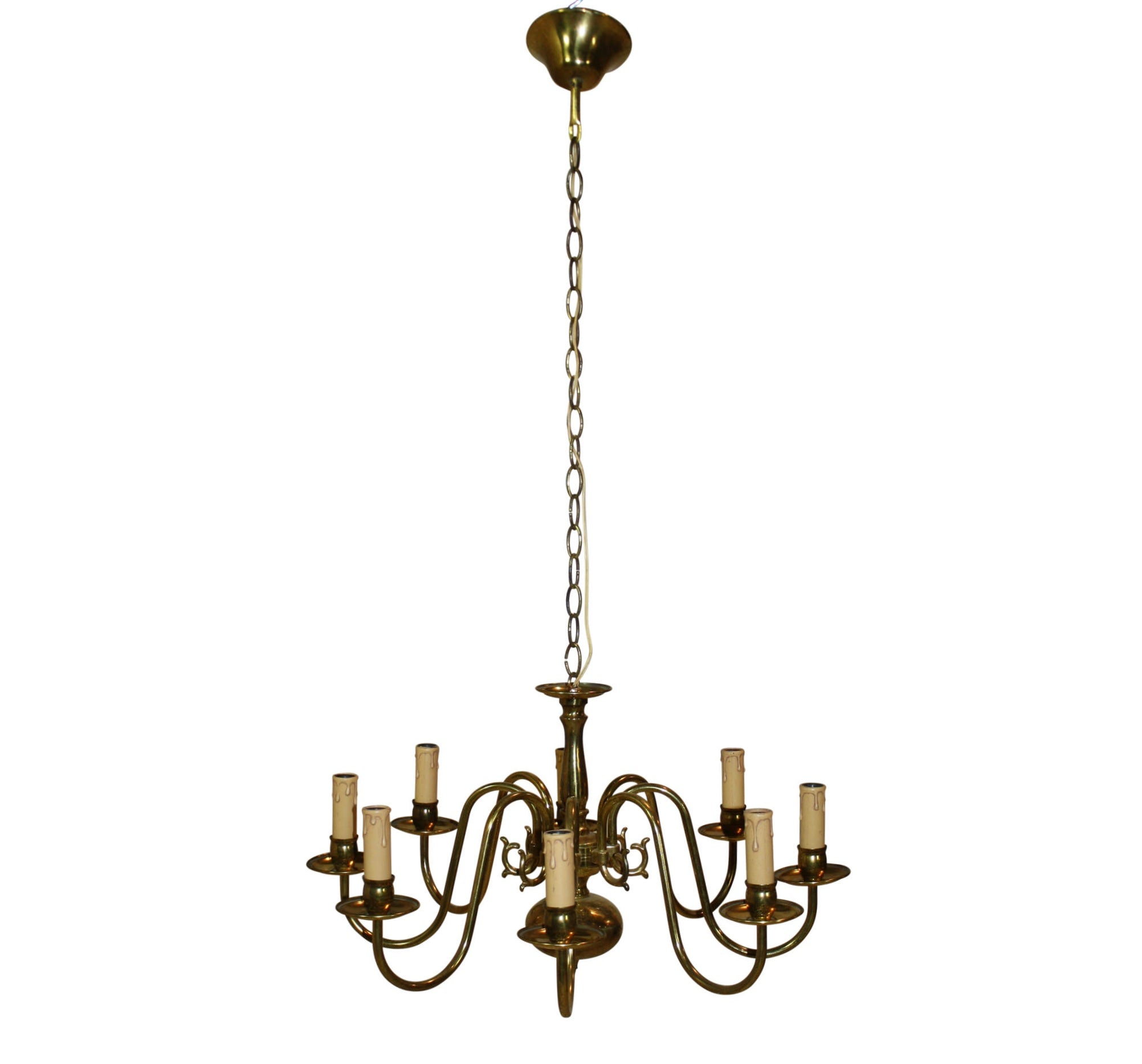 Dutch Brass Chandelier