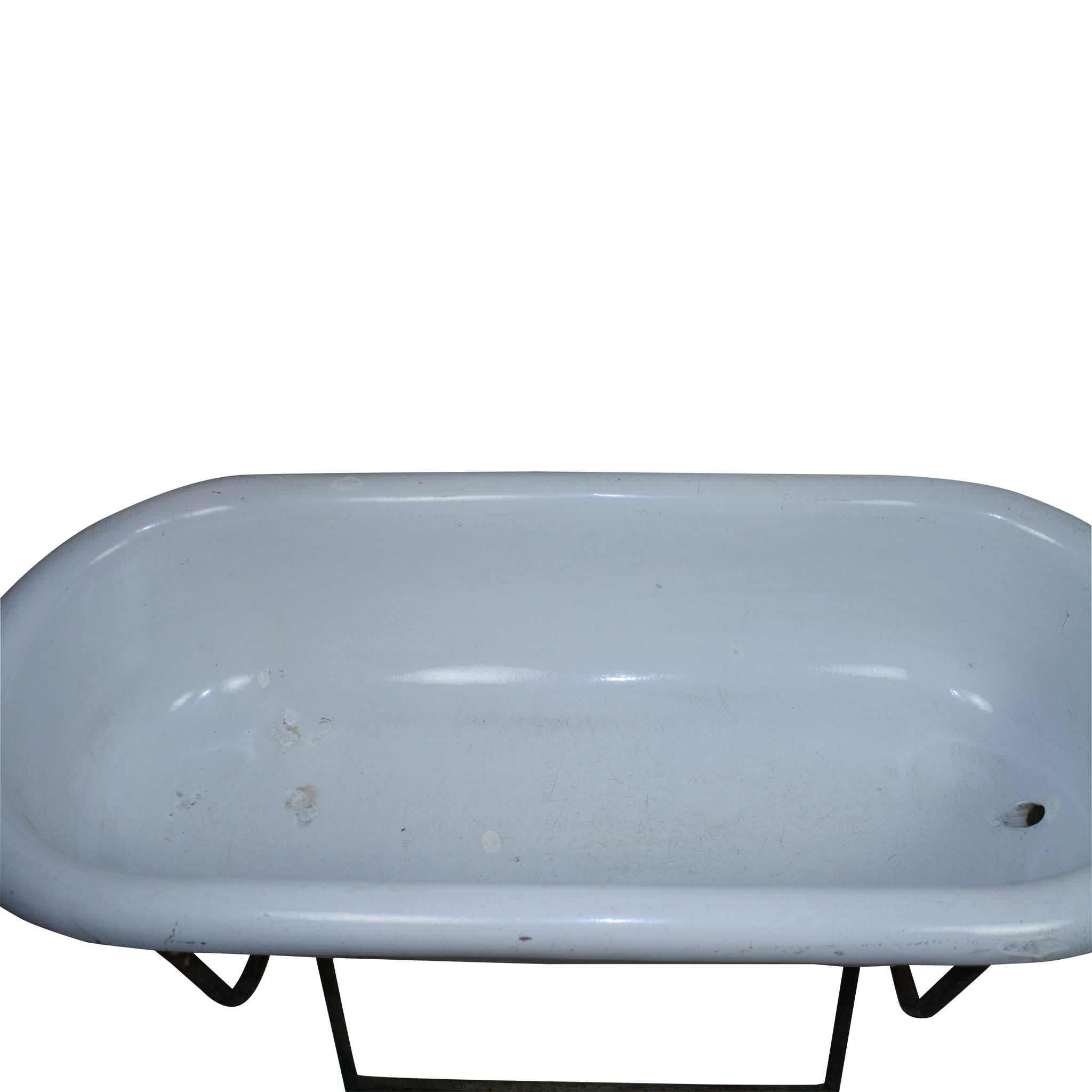 Enamel Bathtub with Stand - Ski Country Antiques & Home