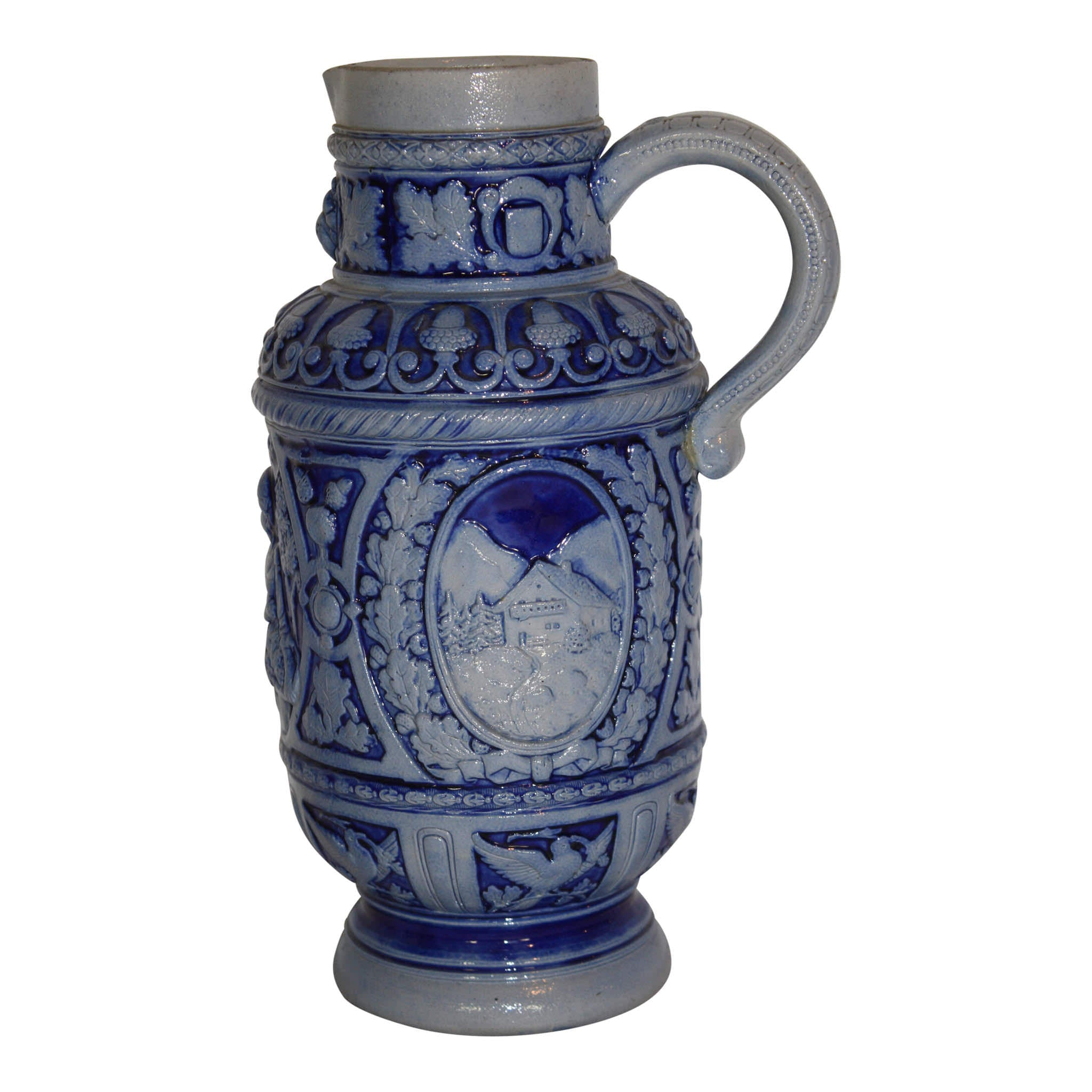 German Westerwald Salt Glazed Pitcher