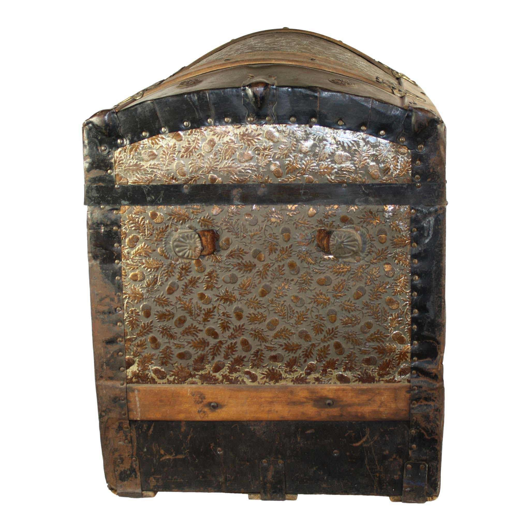 Wood and Metal Trunk